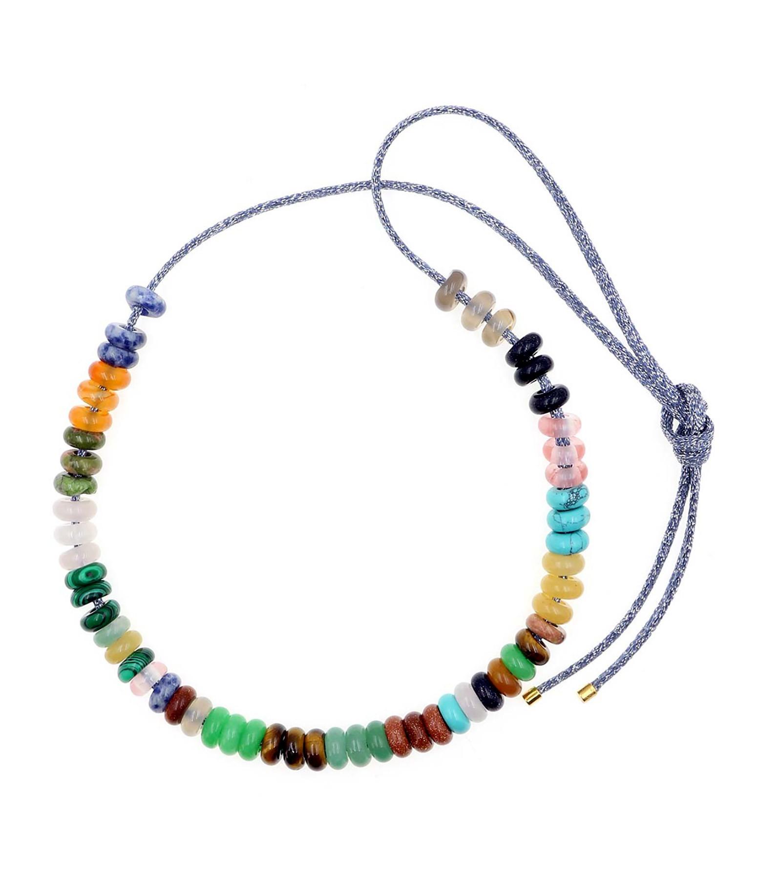 MON PRECIEUX GEM - Sautoir Grosses Perles Pierres Multicolore