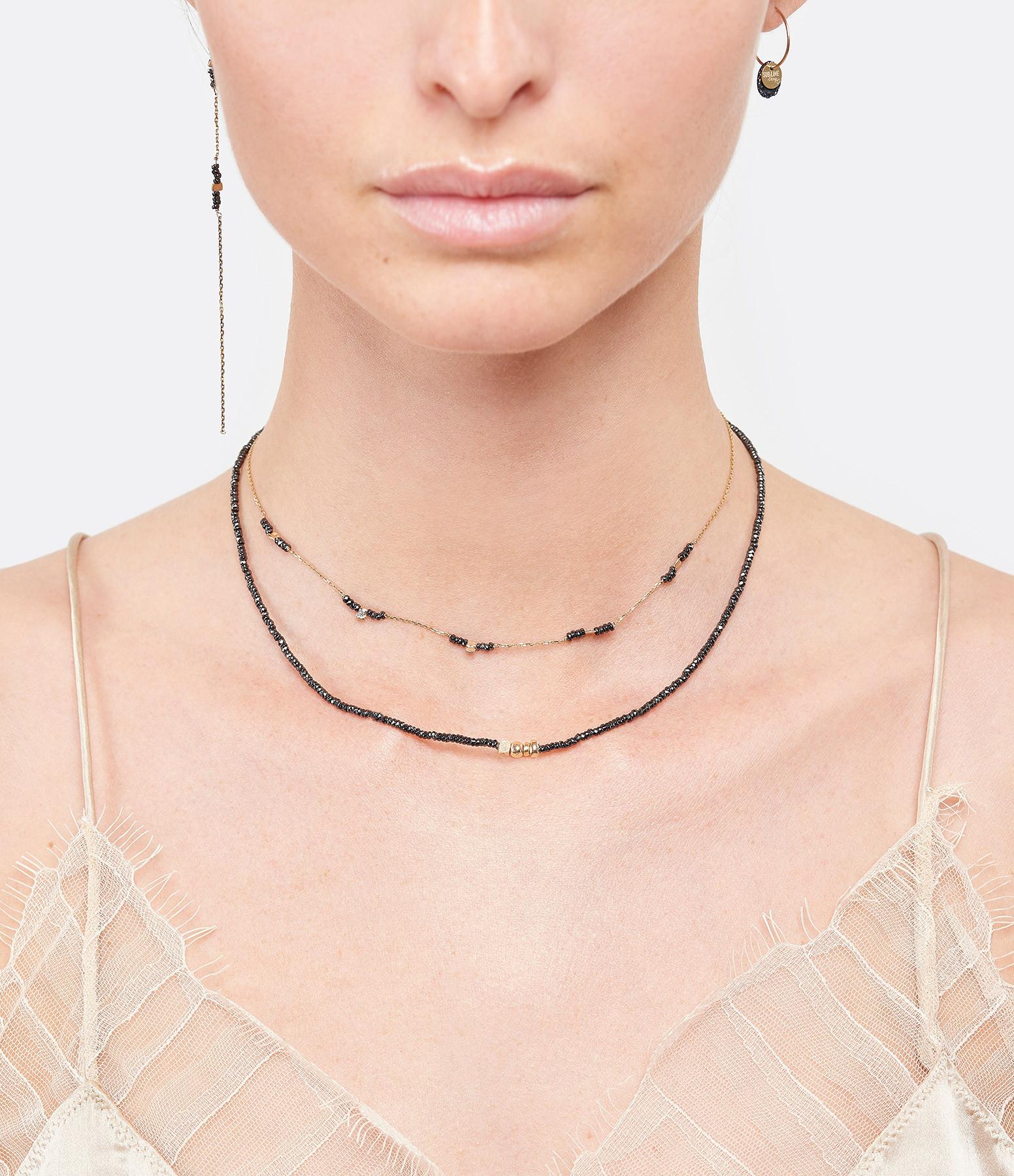 LSONGE - Collier Sublime 4 Perles Or Hématite Noir