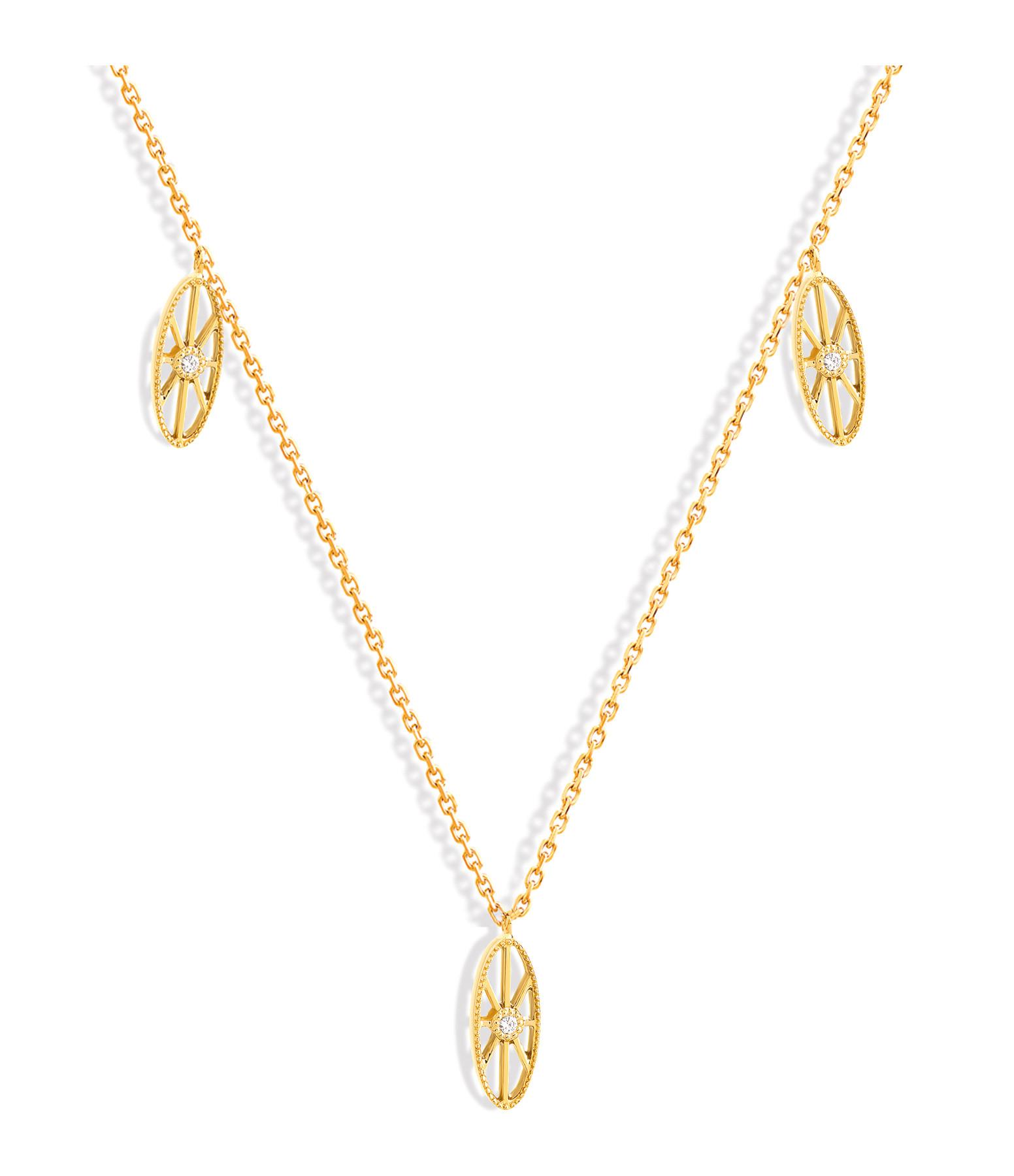 NAVA JOAILLERIE - Collier Cheyenne Mini-Ovale Diamants Or Jaune