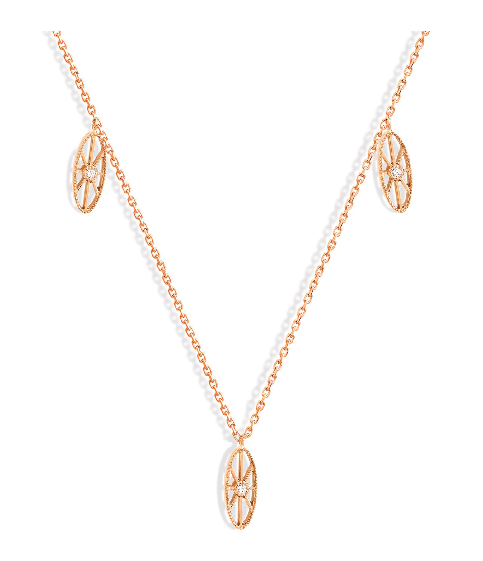 NAVA JOAILLERIE - Collier Cheyenne Mini-Ovale Diamants Or Rose