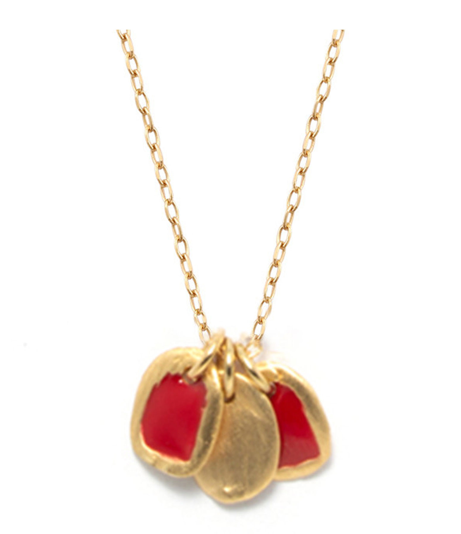 LSONGE - Collier Lumy 3 Médailles XS Rouge