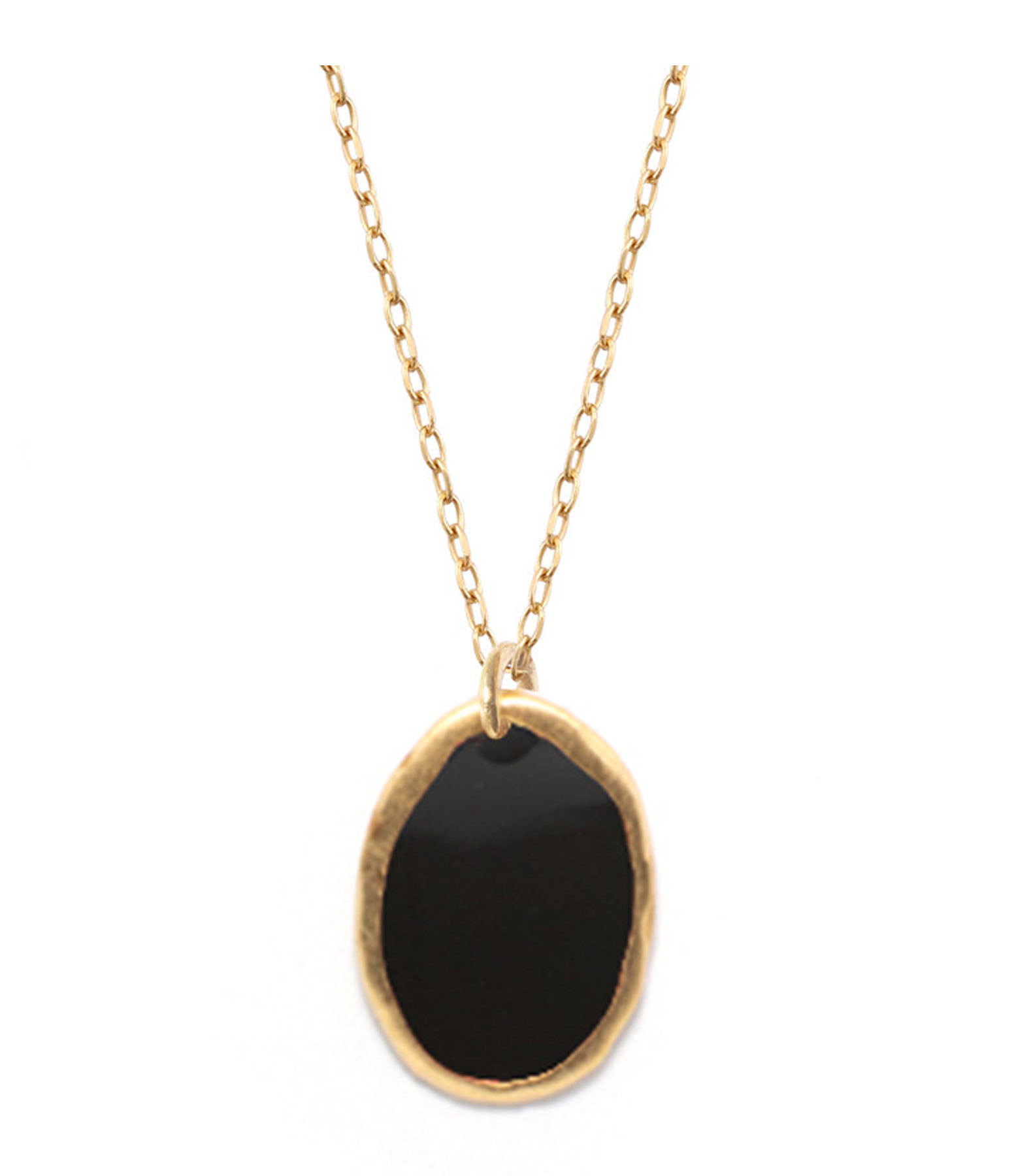 LSONGE - Collier Lumy Médaille M Noir