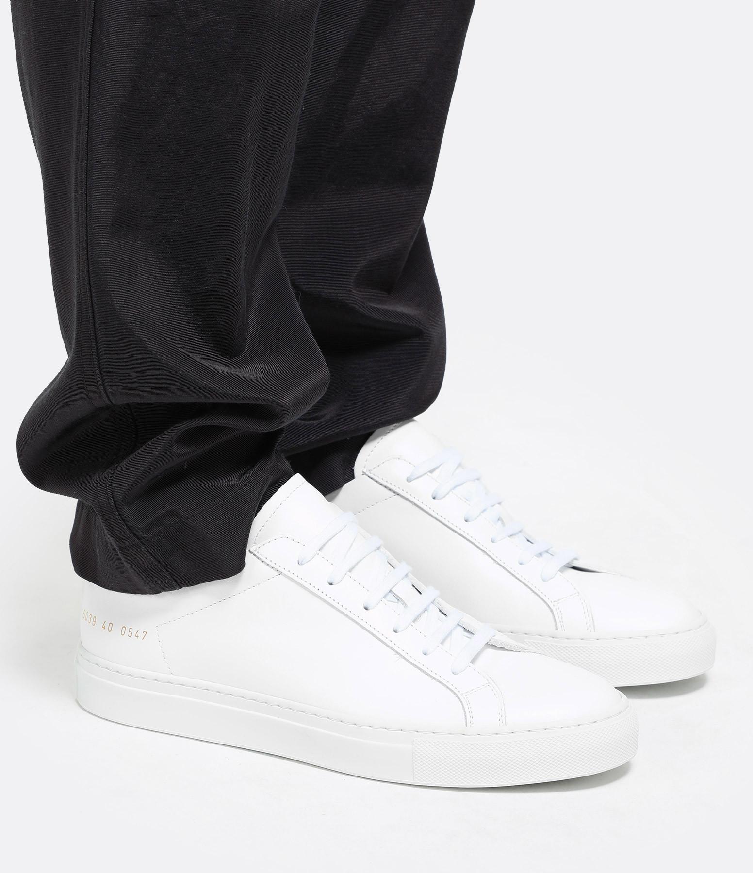 COMMON PROJECTS - Baskets Retro Low Cuir Blanc Noir