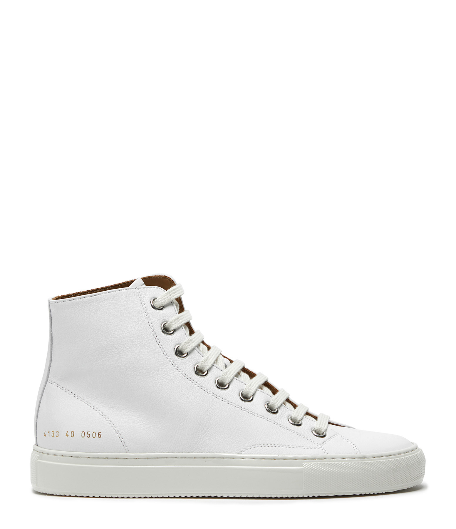 COMMON PROJECTS - Baskets Tournament High Cuir Blanc