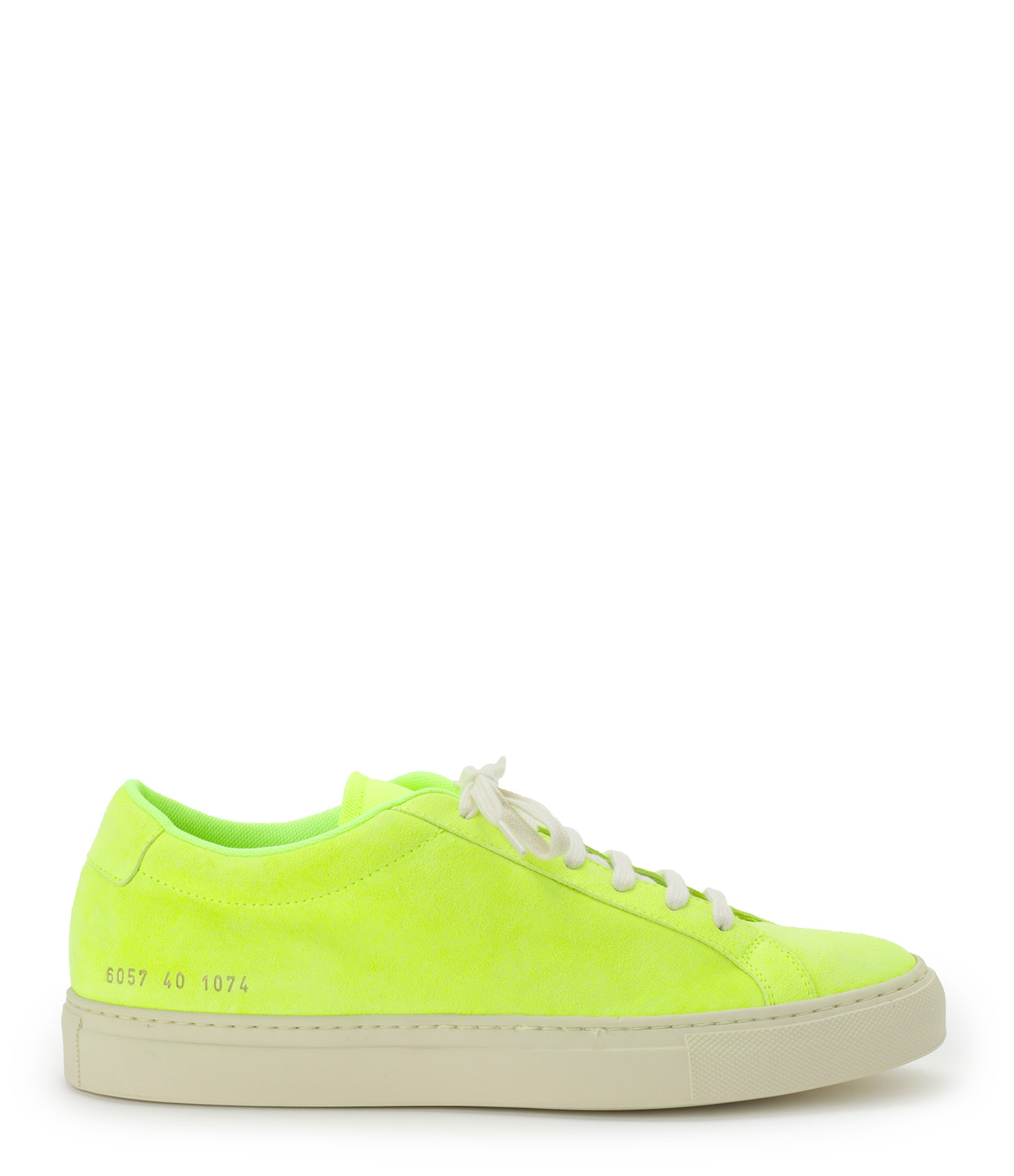 COMMON PROJECTS - Baskets Achilles Fluo Cuir Jaune