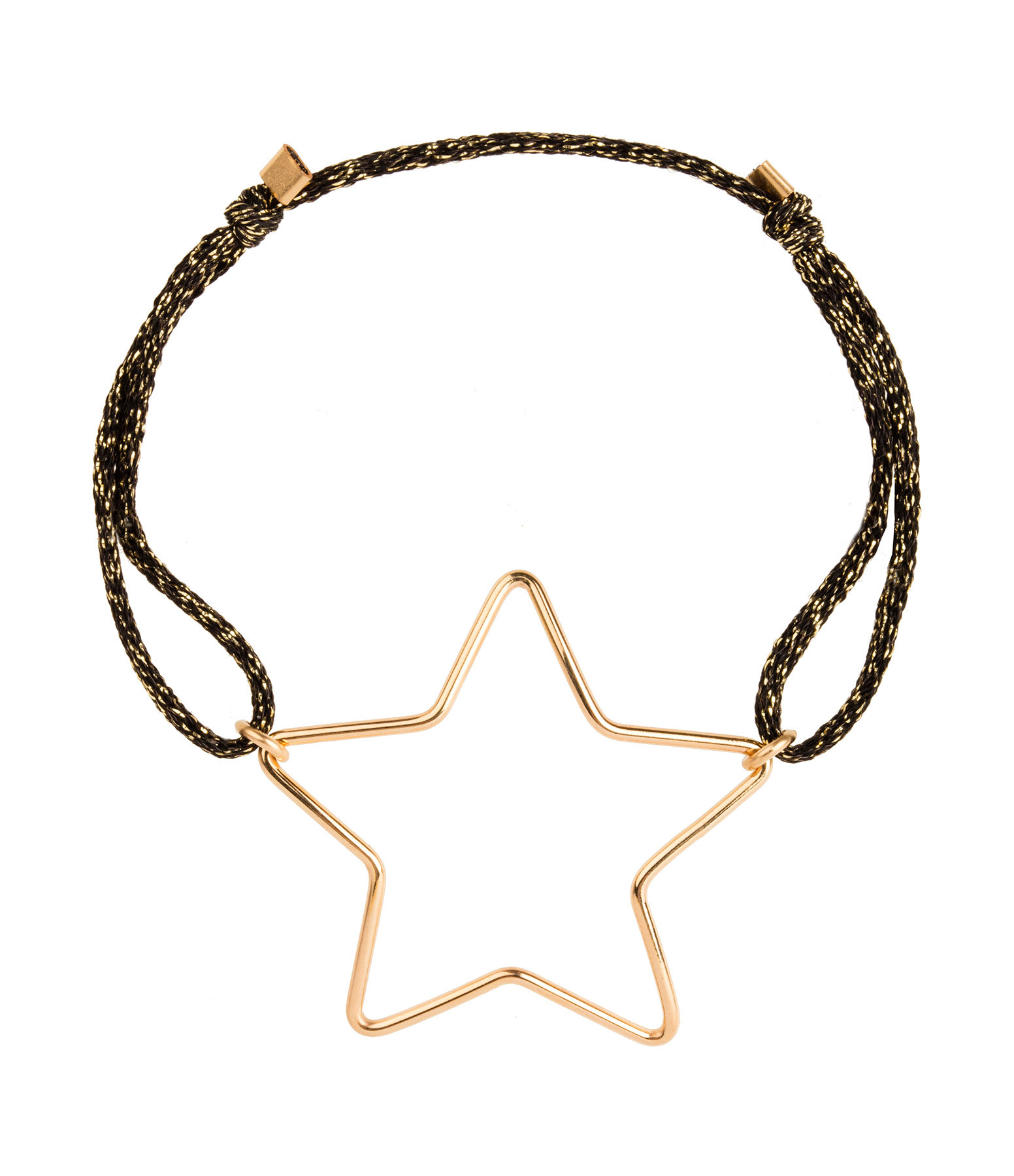 ATELIER PAULIN - Bracelet Cordon Stardust Big Star Gold Filled 14K