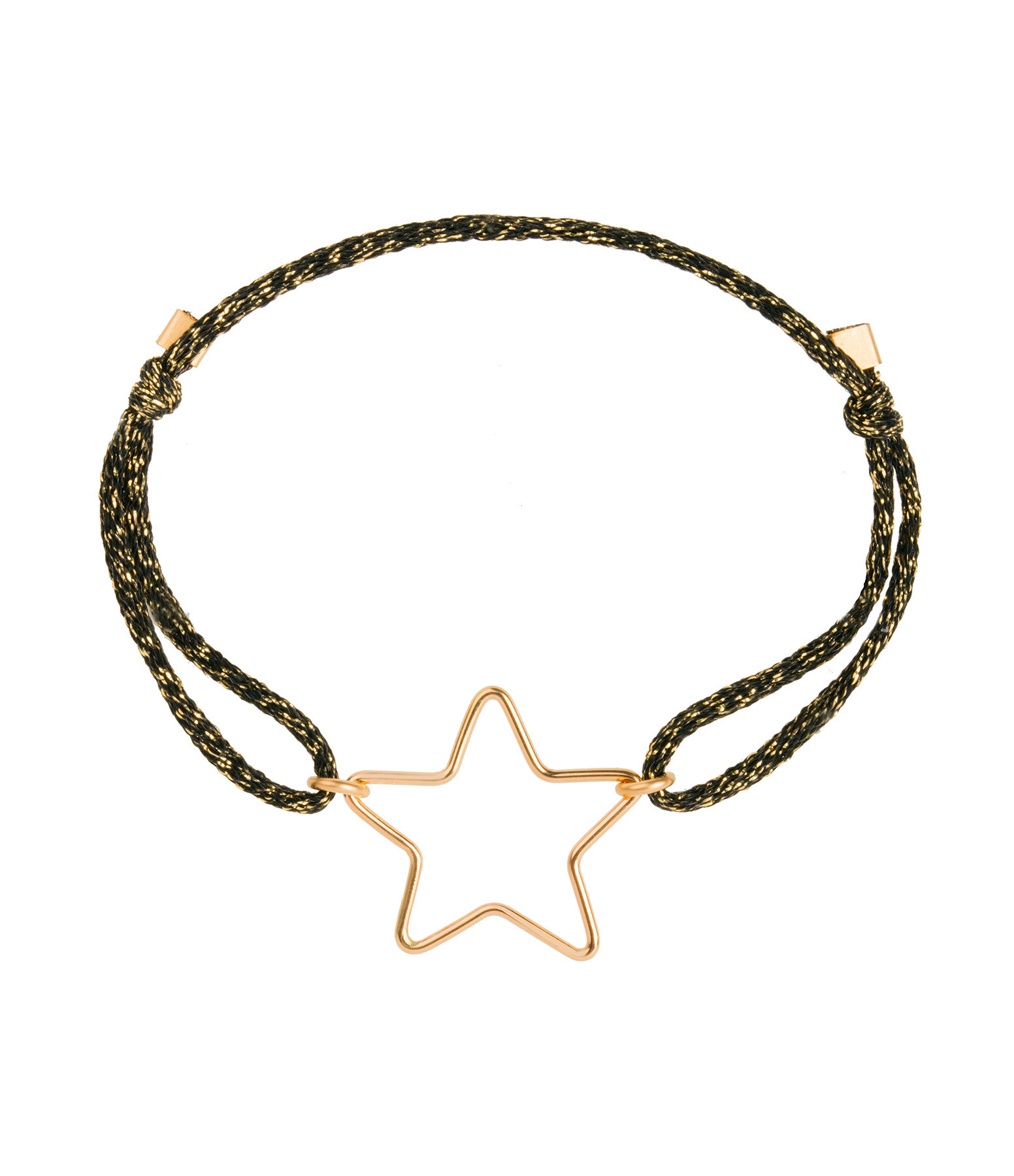 ATELIER PAULIN - Bracelet Cordon Stardust Petit Star Gold Filled 14K