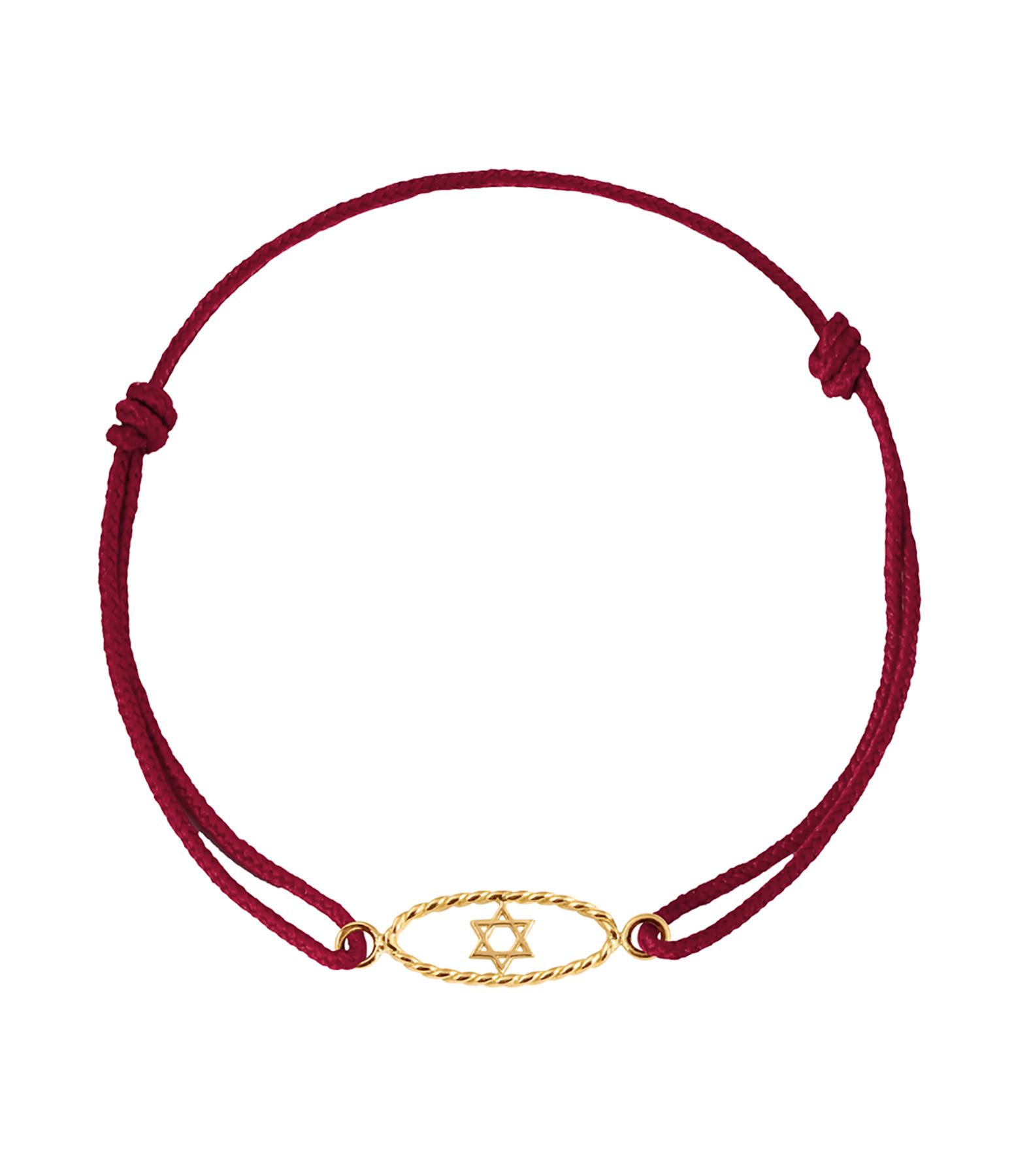 CHARLET - Bracelet Divine Iris GM Cordon Etoile de David