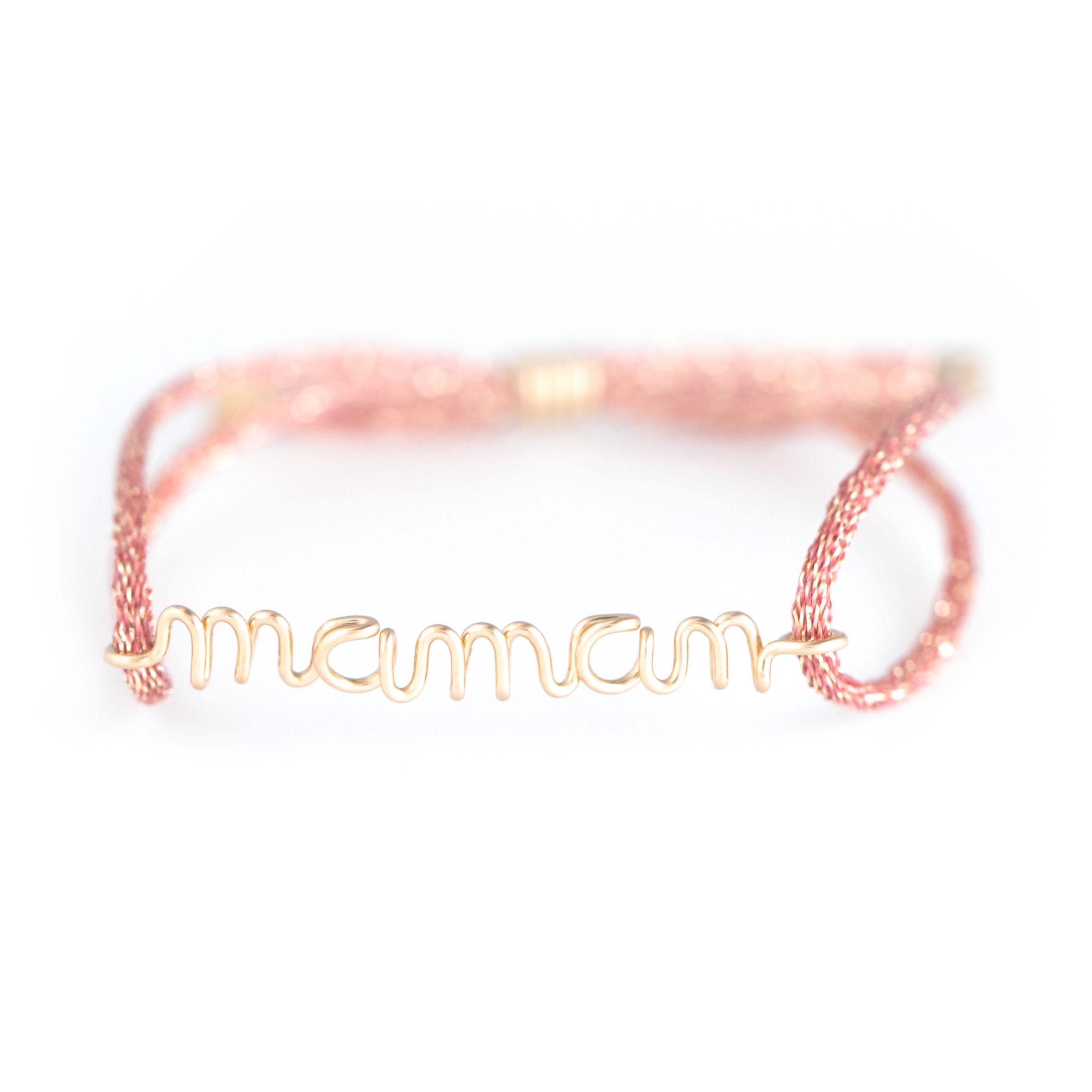 ATELIER PAULIN - Coffret Fête des Mères Bracelets Maman Enfant Rose GF14K