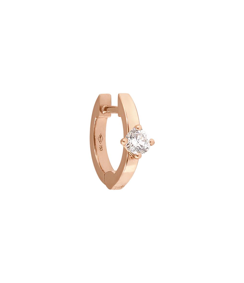 VANRYCKE - Créole Officiel XS Or Rose Diamant (vendue à l'unité)