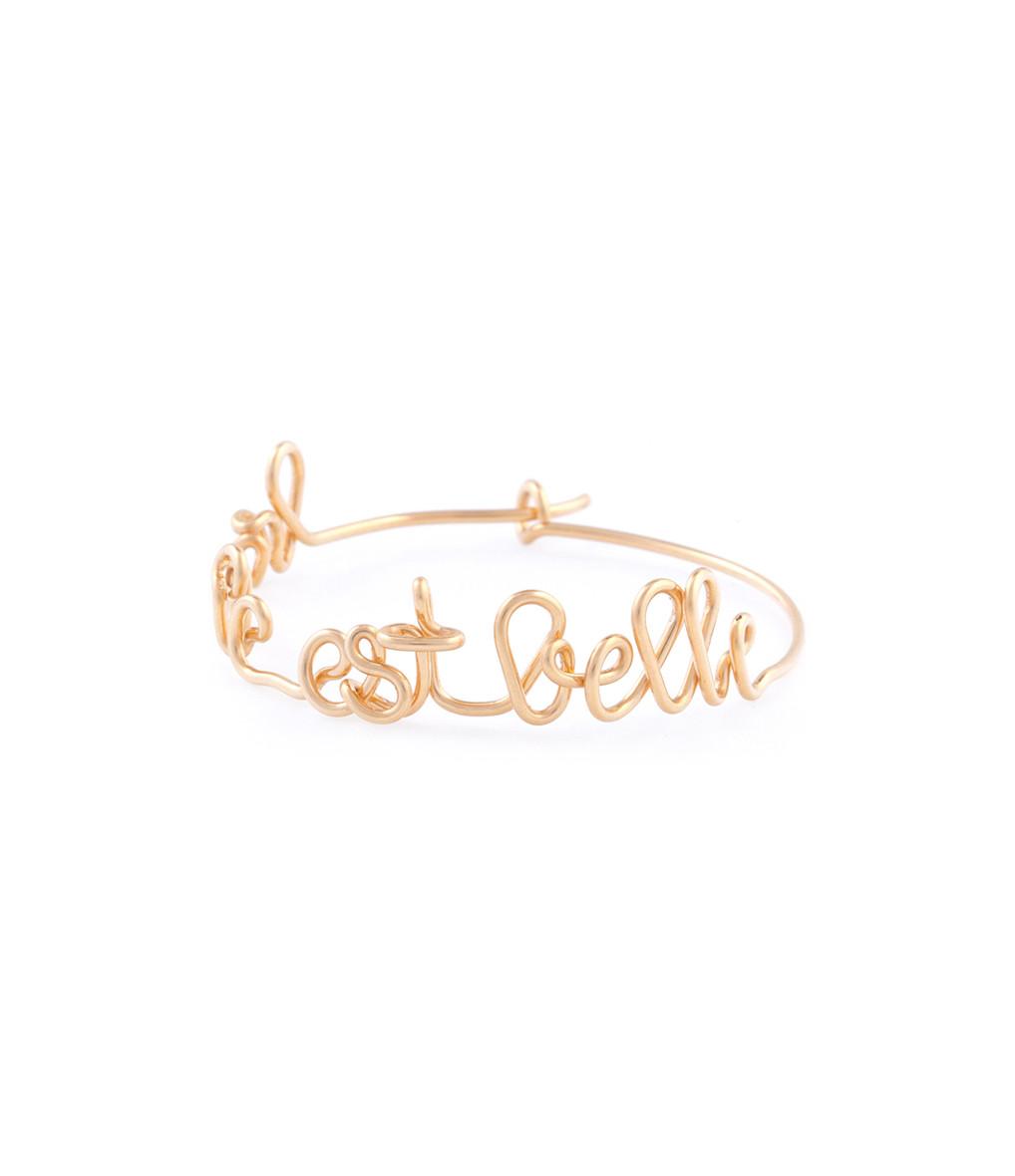 ATELIER PAULIN - Créole La Vie est Belle Gold Filled 14K (vendue à l'unité)