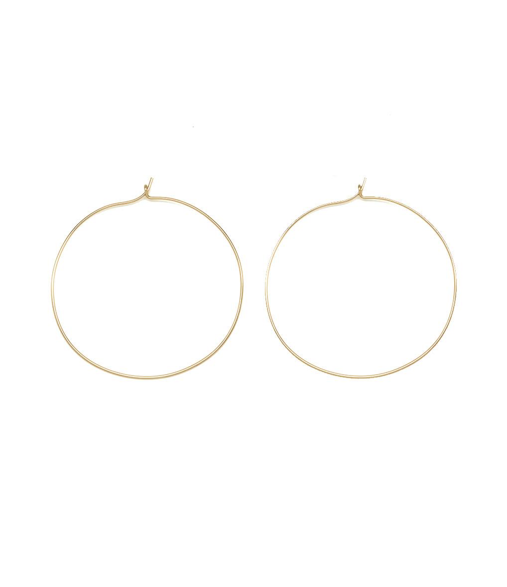ATELIER PAULIN - Créoles Nude Gold Filled Jaune 14K