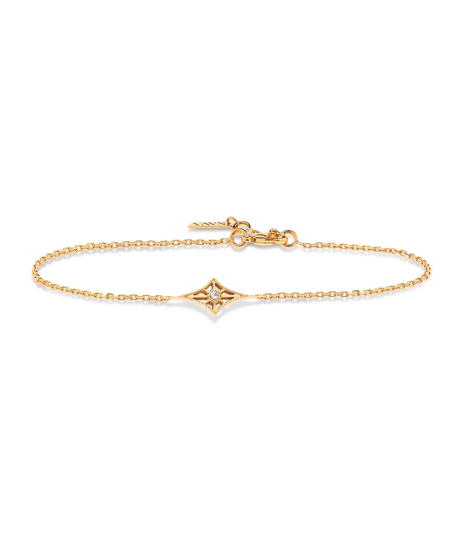 NAVA JOAILLERIE - Bracelet Cheyenne Losange Or Jaune
