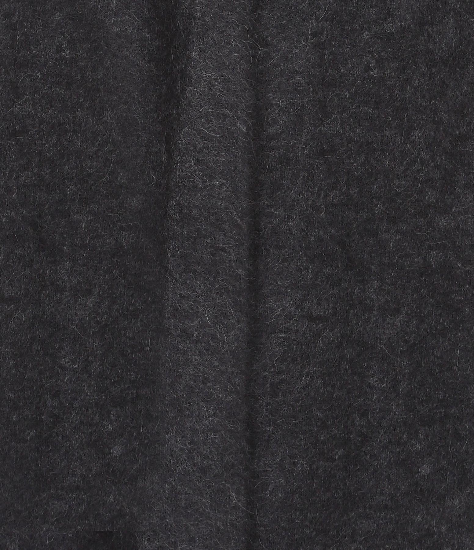 CT PLAGE - Gilet Laine Raccoon Gris