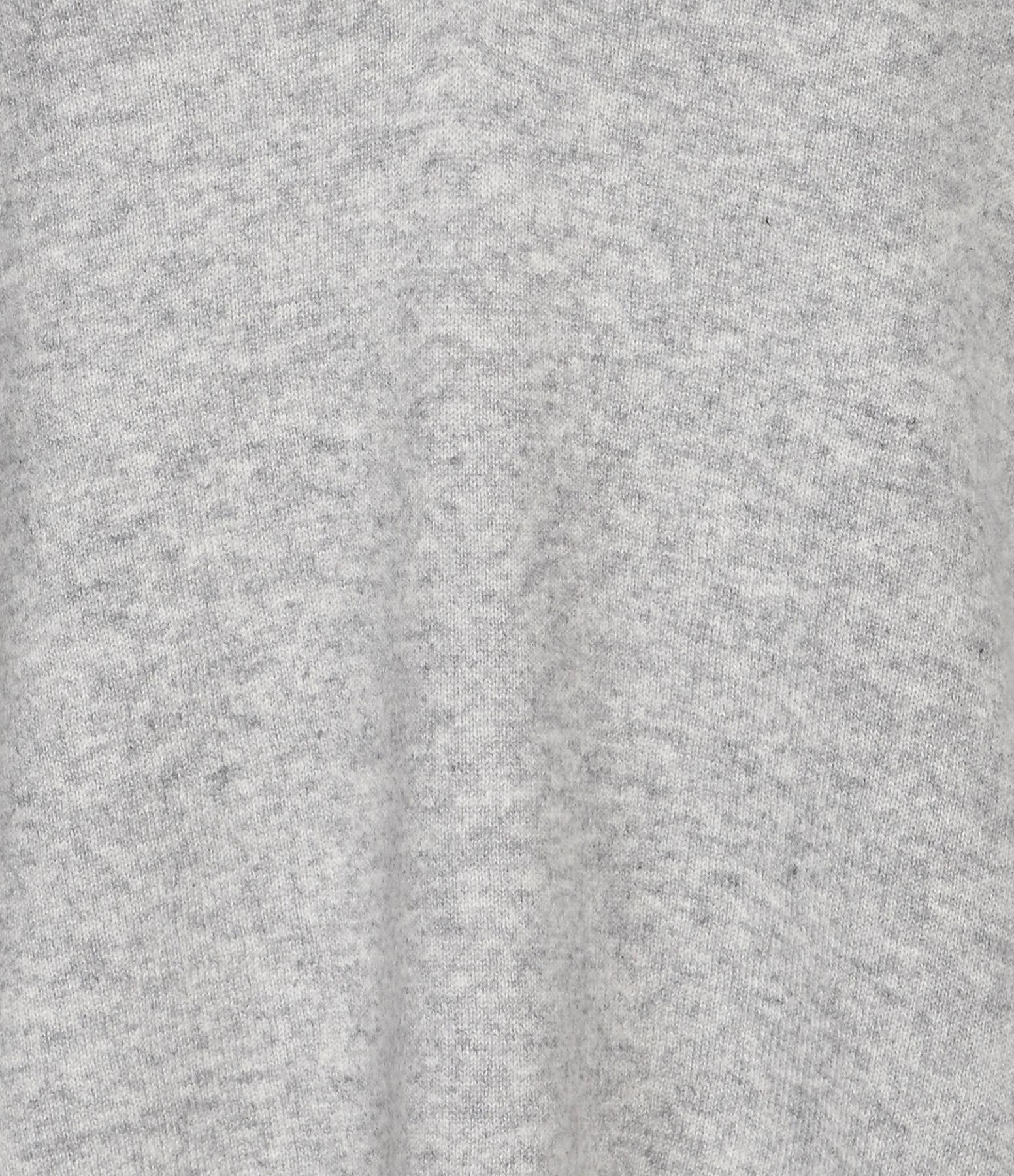 CT PLAGE - Pull Cachemire Long Gris Clair