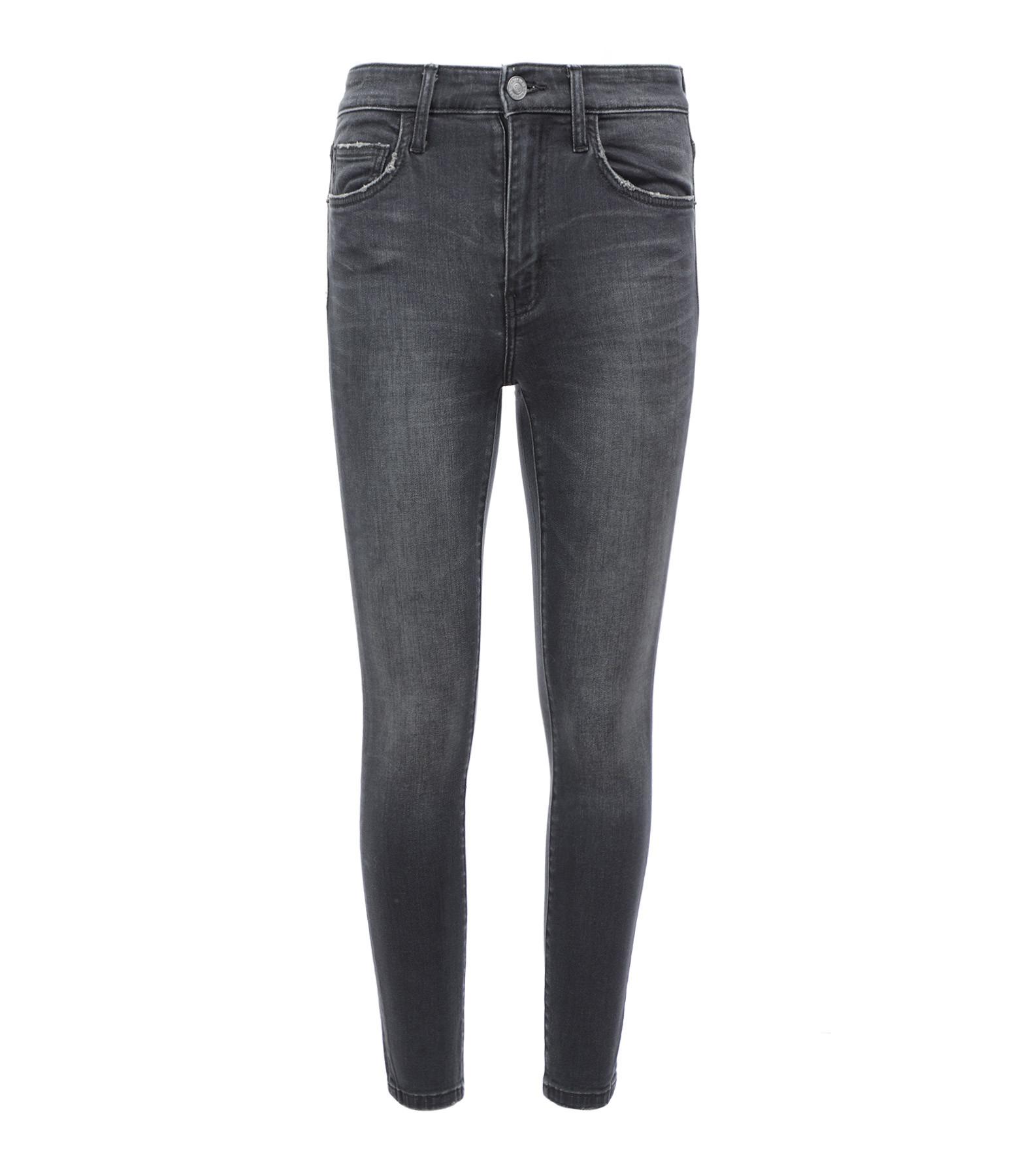 CURRENT/ELLIOTT - Jean The Original High Waist Ankle Stiletto Noir