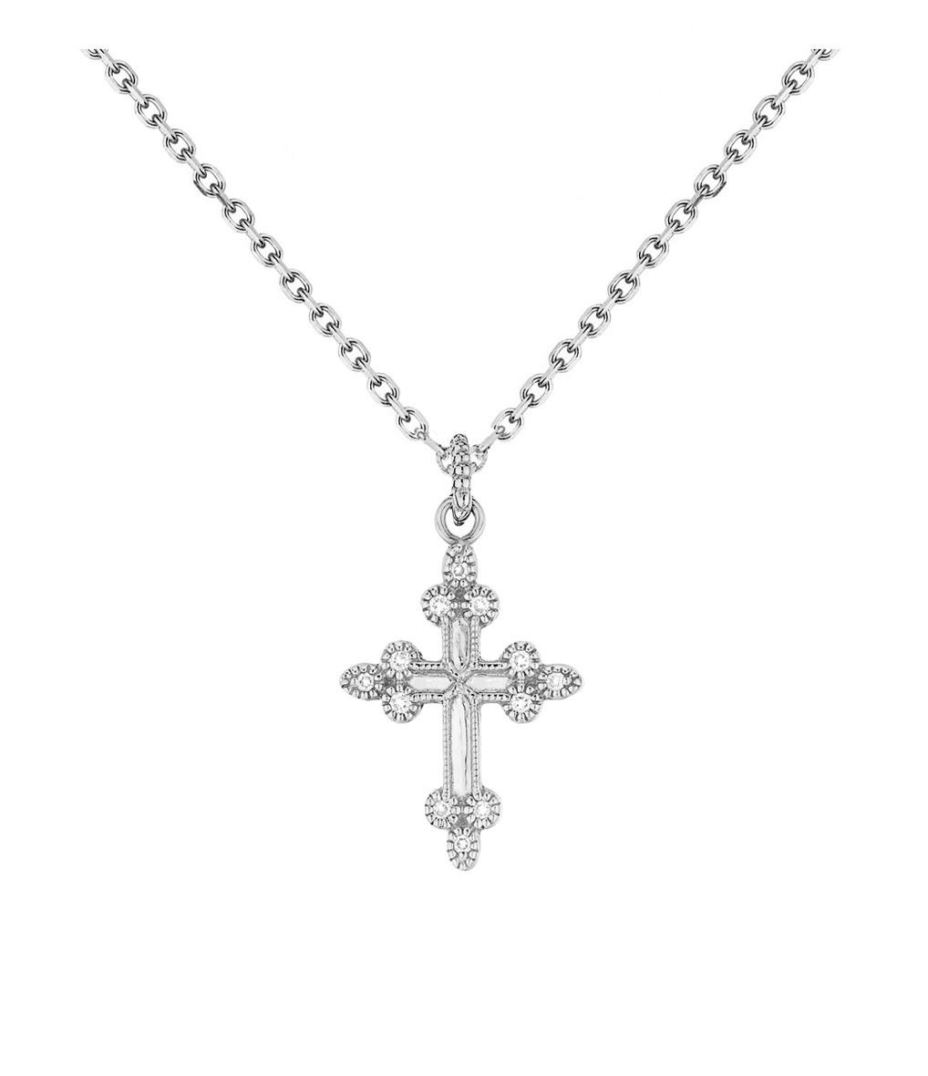 Collier Devotion Or Diamants - Stone