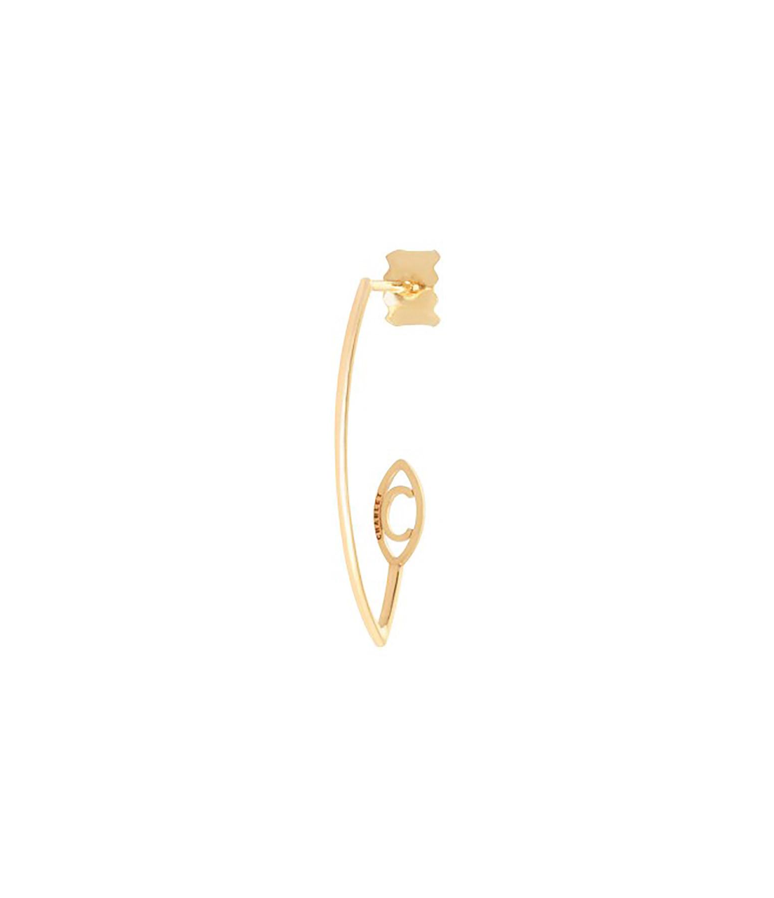 CHARLET - Demi-créole Iris Petit Modèle Or Jaune (vendue à l'unité)