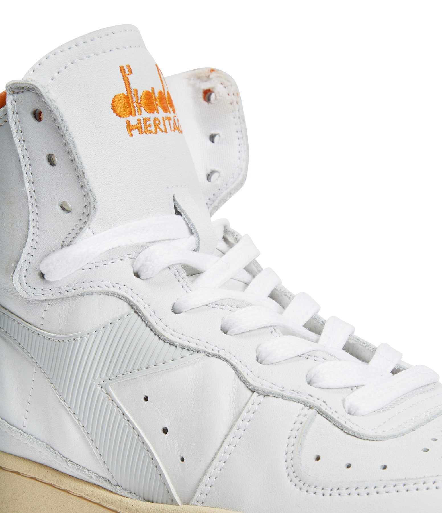 DIADORA - Baskets Mi Basket Used Blanc
