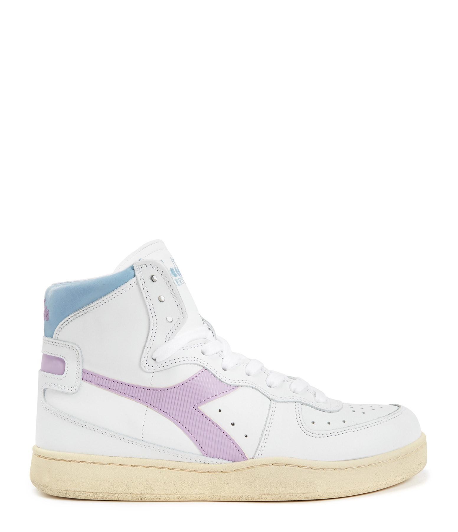 DIADORA - Baskets Mi Basket Used Blanc Violet