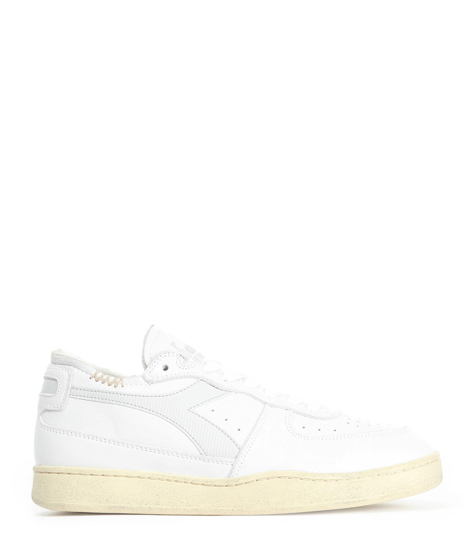 DIADORA - Baskets Mi Basket Row Cut Blanc