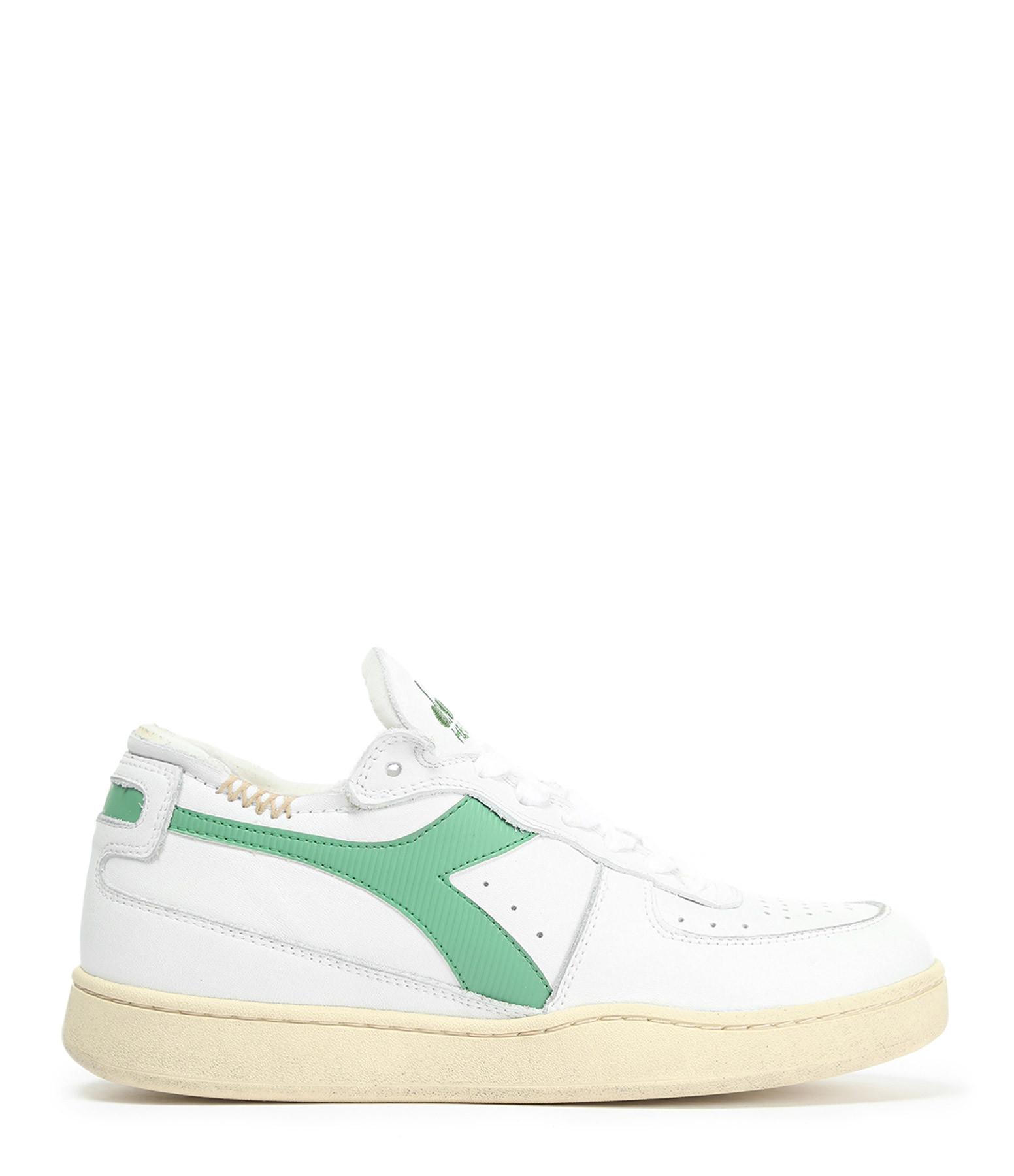 DIADORA - Baskets Mi Basket Row Cut Blanc Vert