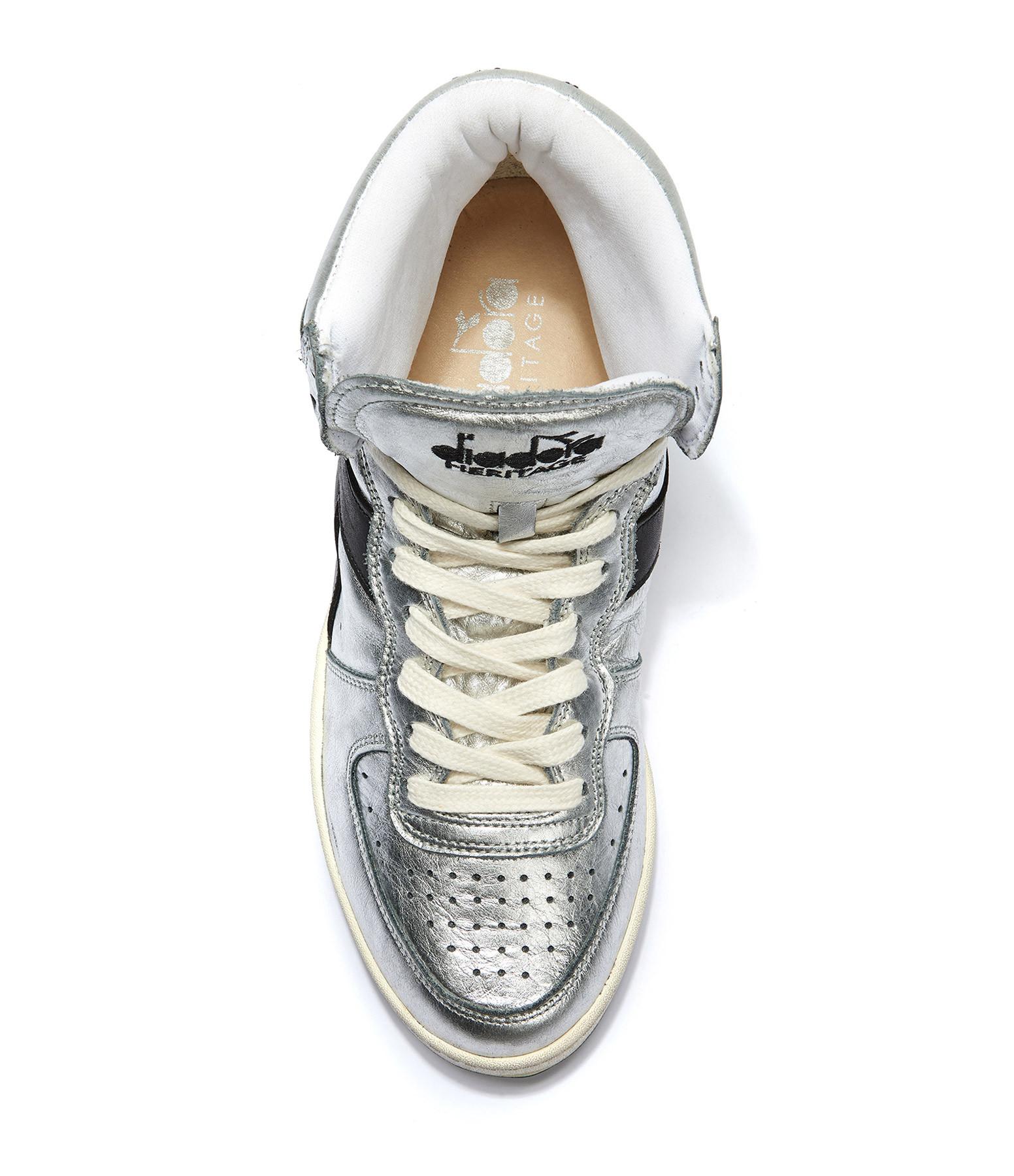 DIADORA - Baskets Mi Basket Silver Used W Argent Noir