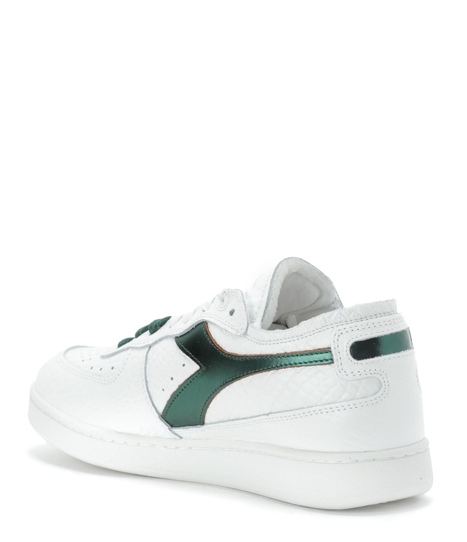 DIADORA - Baskets Mi Basket Row Cut Cuir Cocco Vert