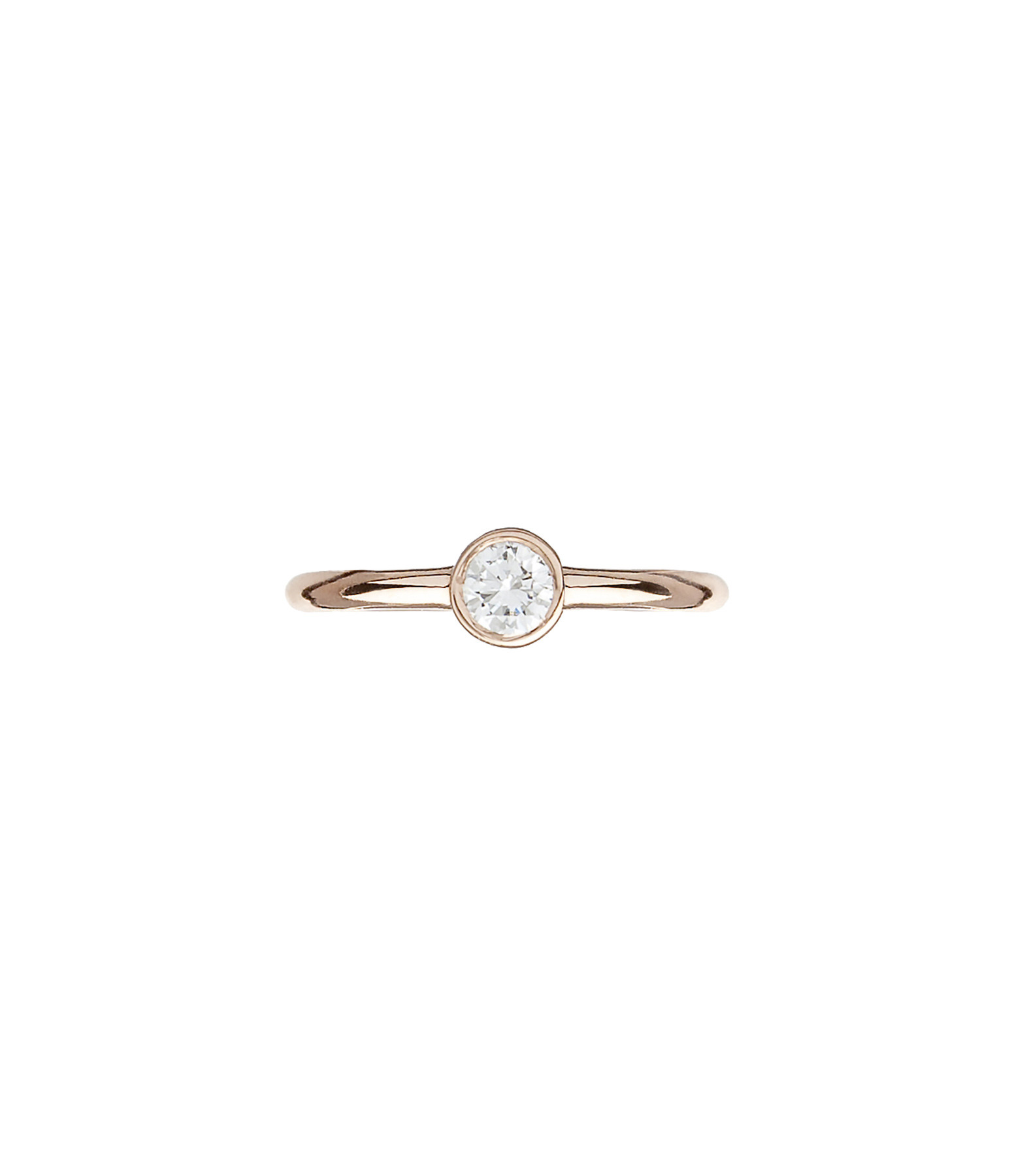 YANNIS SERGAKIS - Mini Créole Or Diamant Blanc (vendue à l'unité)