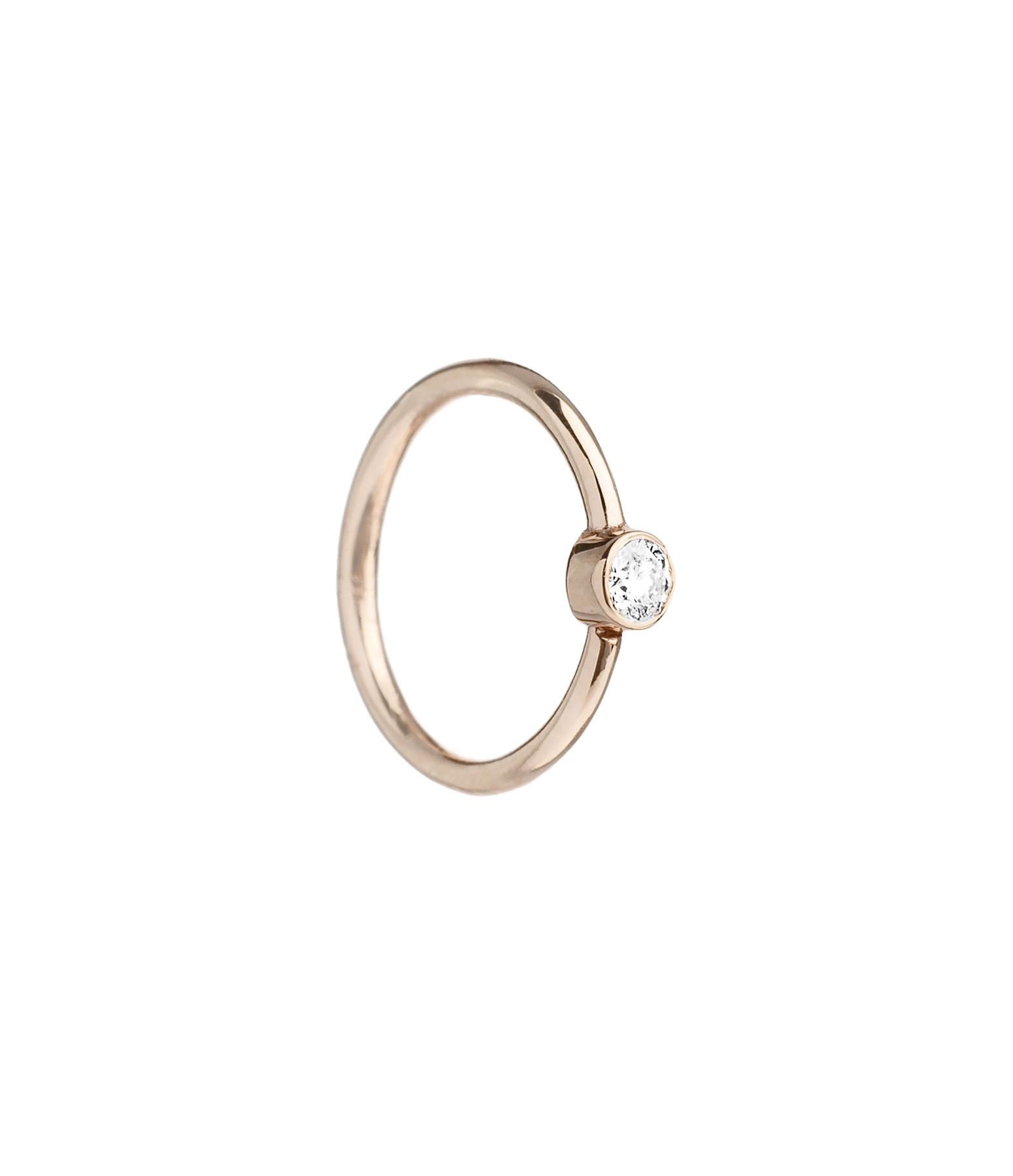YANNIS SERGAKIS - Créole Medium Or Diamant Blanc (vendue à l'unité)