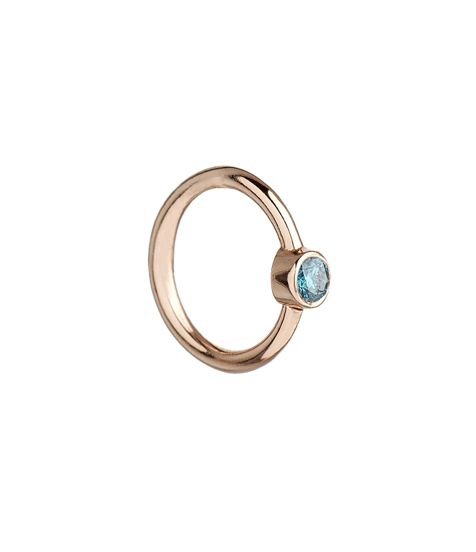 YANNIS SERGAKIS - Créole Medium Or Diamants Bleus (vendue à l'unité)