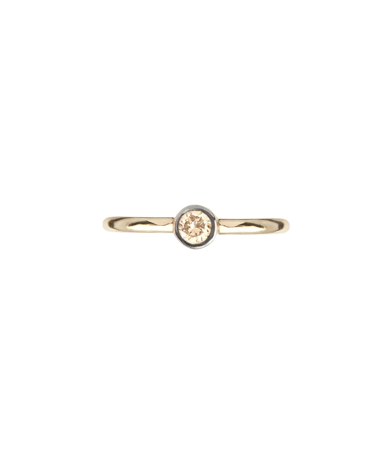 YANNIS SERGAKIS - Créole Medium Or Diamant Brun (vendue à l'unité)