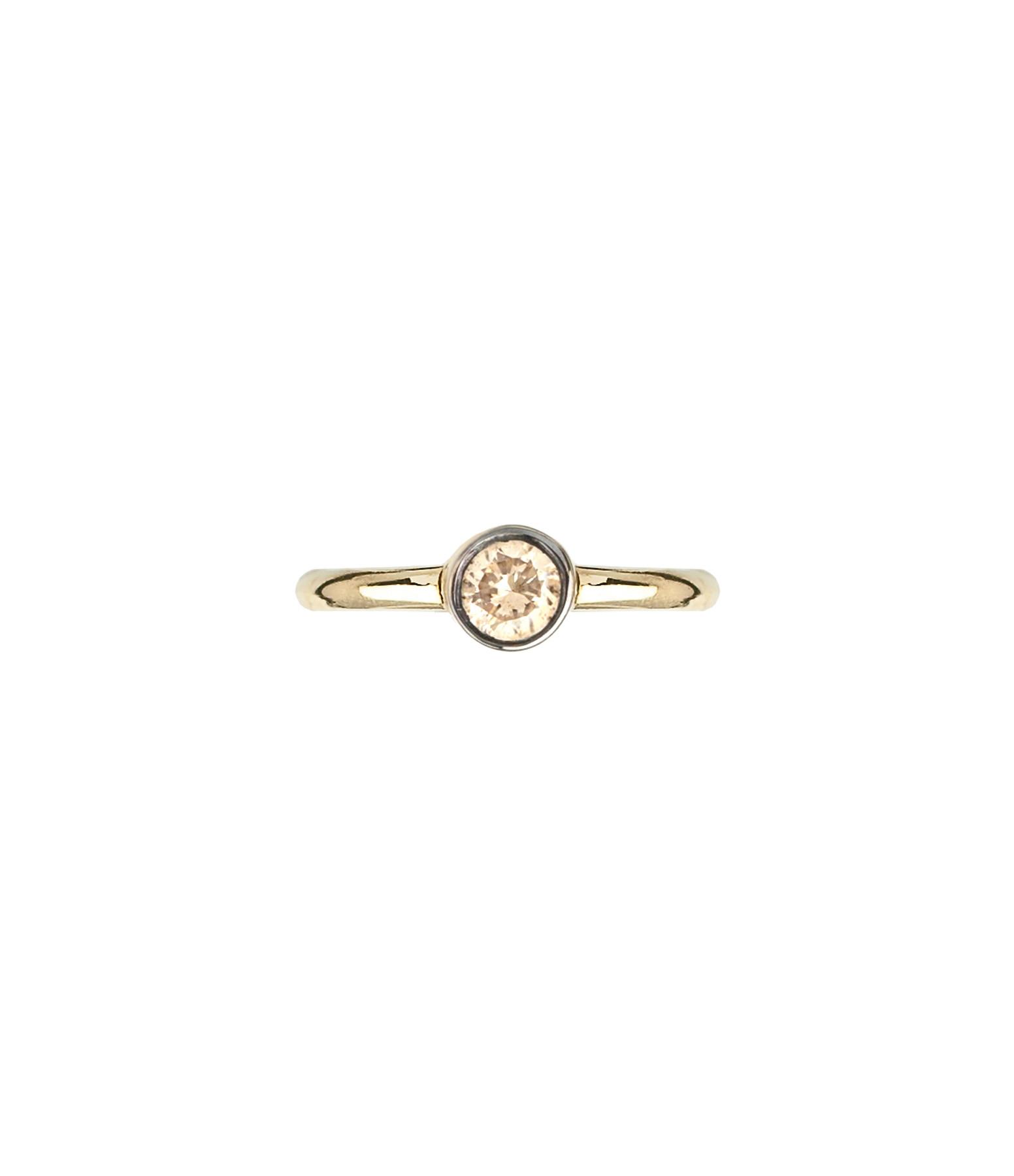 YANNIS SERGAKIS - Petite Créole Or Diamants Bruns (vendue à l'unité)
