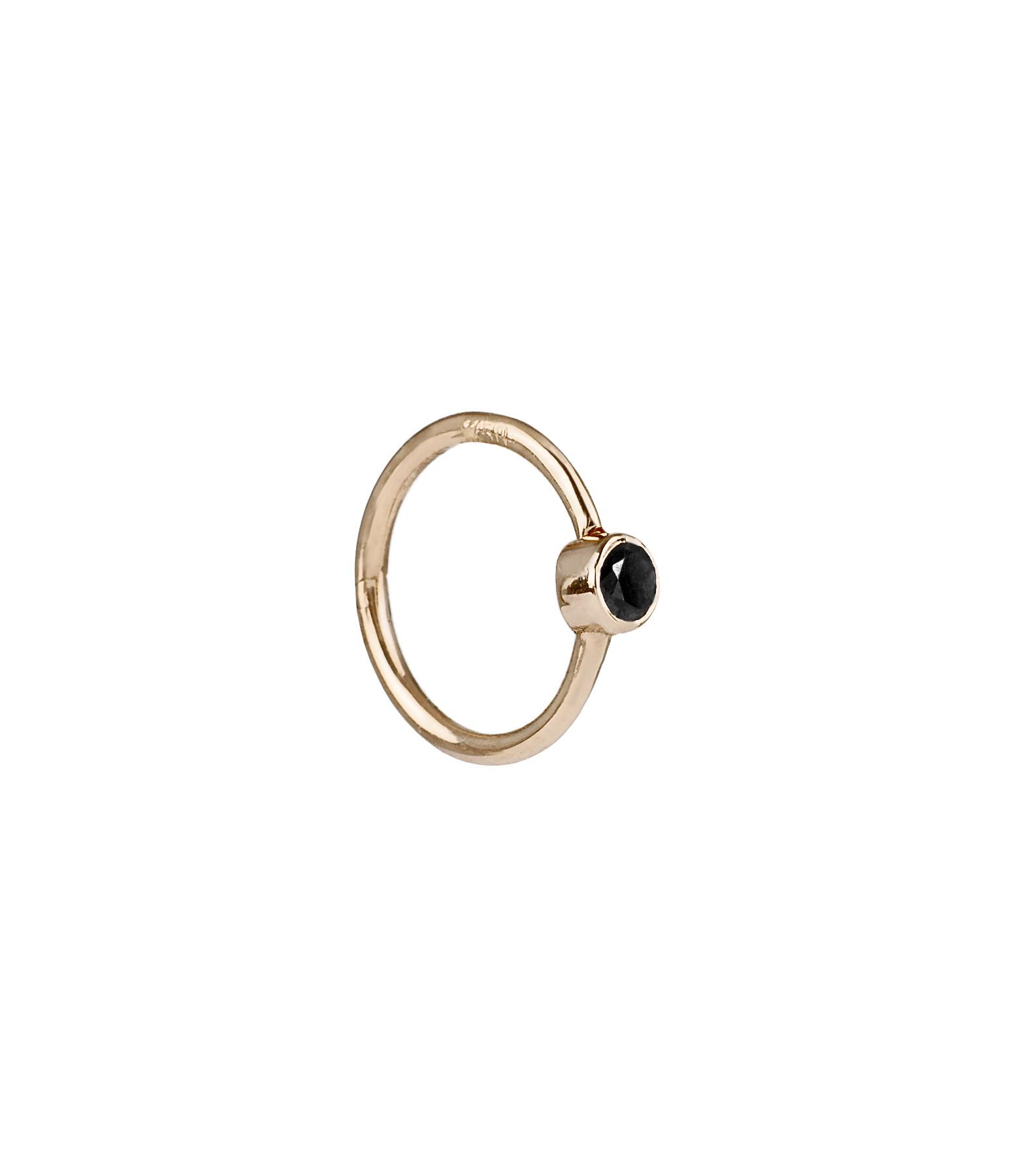 YANNIS SERGAKIS - Petite Créole Or Diamants Noirs (vendue à l'unité)