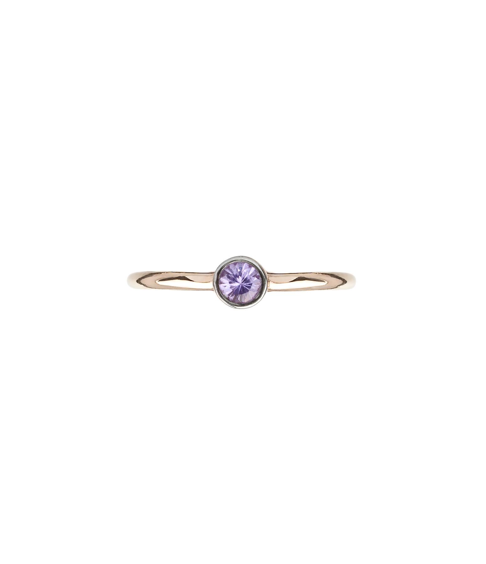 YANNIS SERGAKIS - Créole Medium Or Saphir Violet (vendue à l'unité)