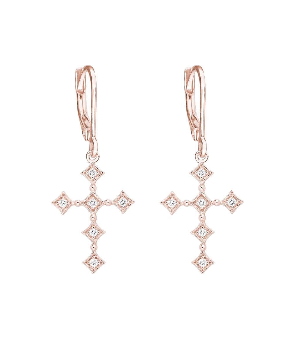 Boucles d'oreilles Dormeuses Divine Diamants - STONE