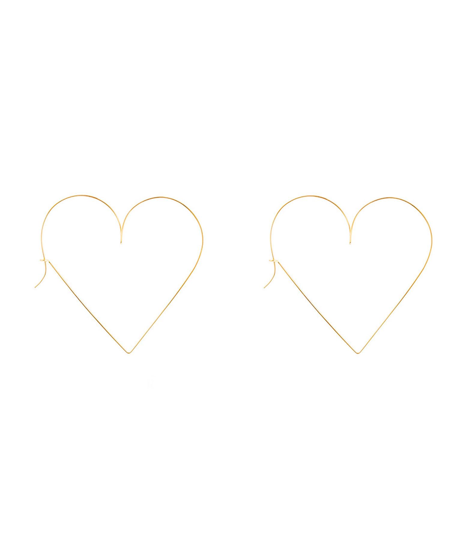 ATELIER PAULIN - Créoles Cœur Nude Gold Filled 14K Jaune