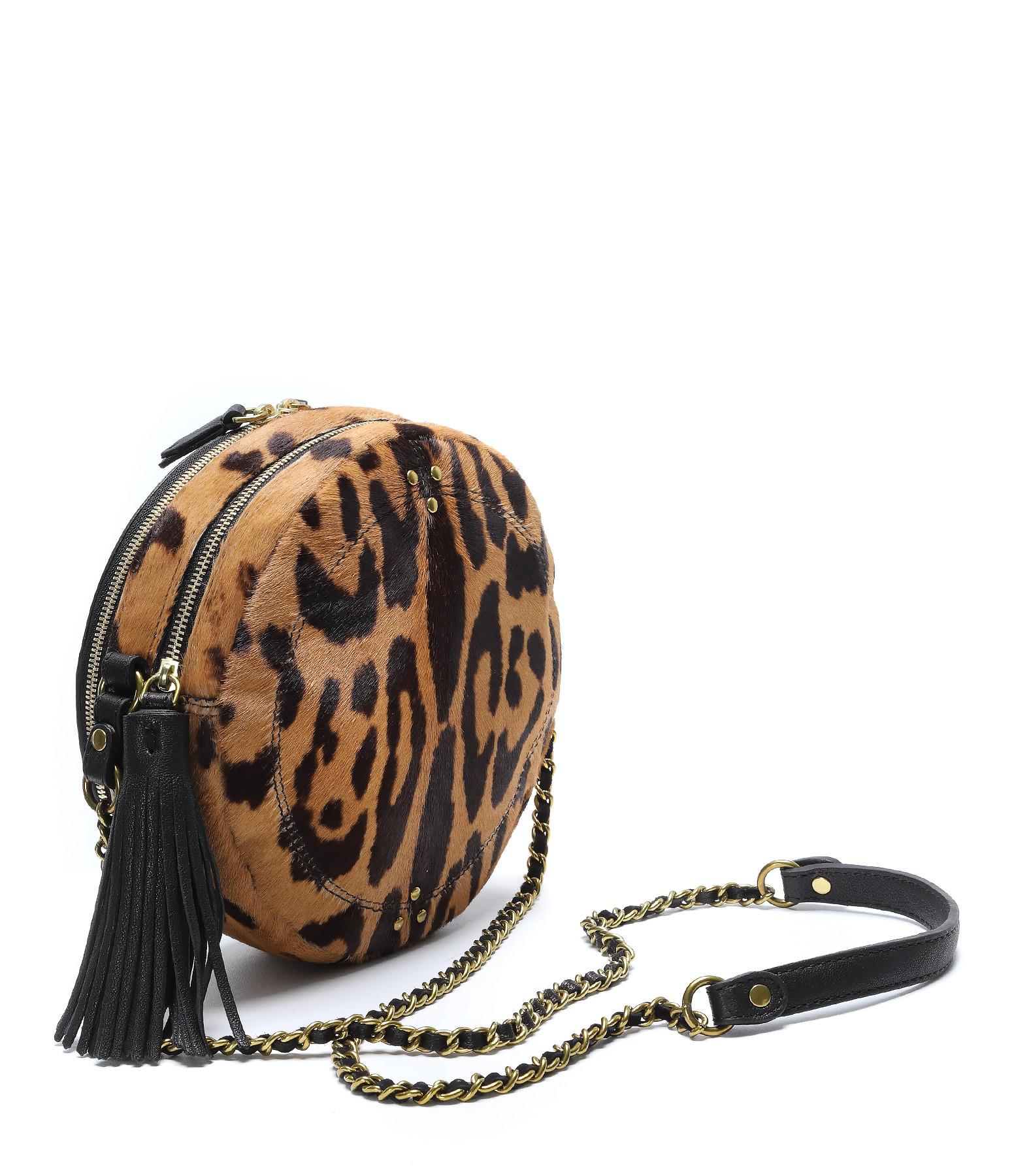 JEROME DREYFUSS - Sac Rémi Veau Agneau Chèvre Leopard Classique
