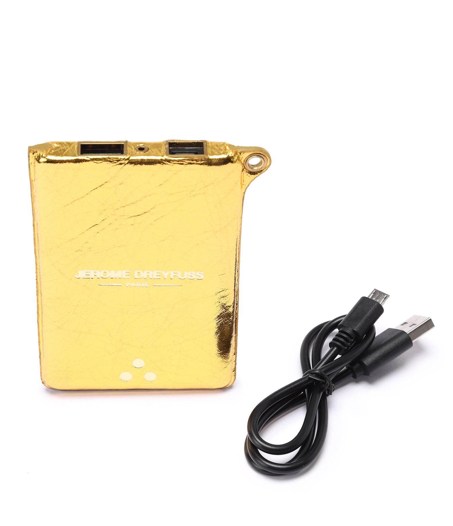 JEROME DREYFUSS - Batterie Externe Lithium Gainée Agneau Doré