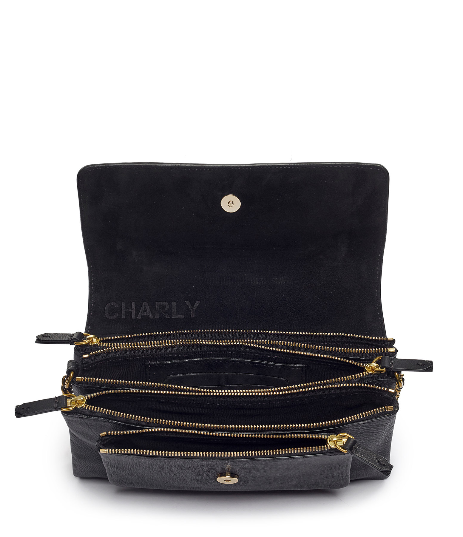 JEROME DREYFUSS - Sac Charly S Veau Chèvre Noir Brass