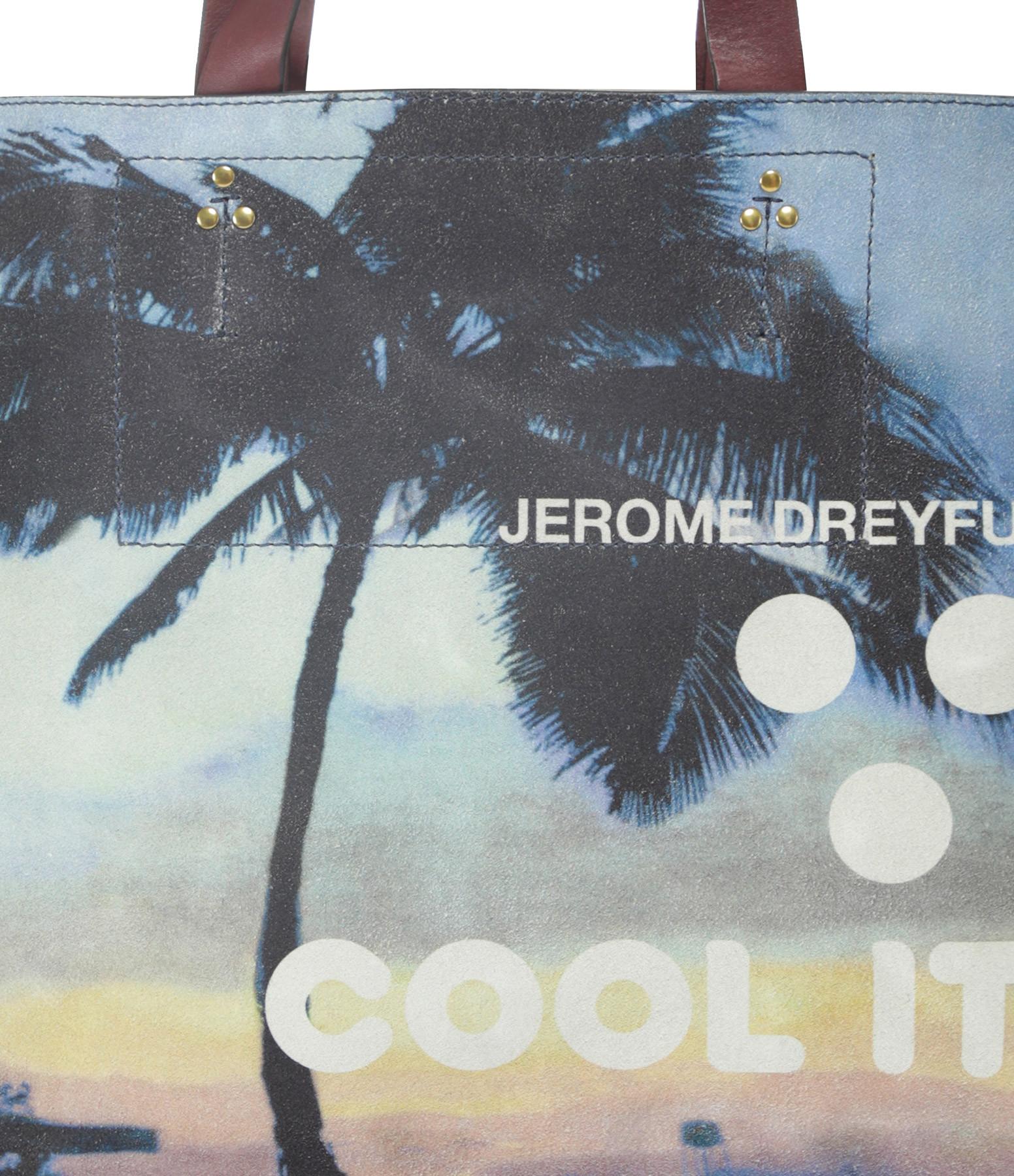 JEROME DREYFUSS - Sac Leon L Veau Palmier Multicolore