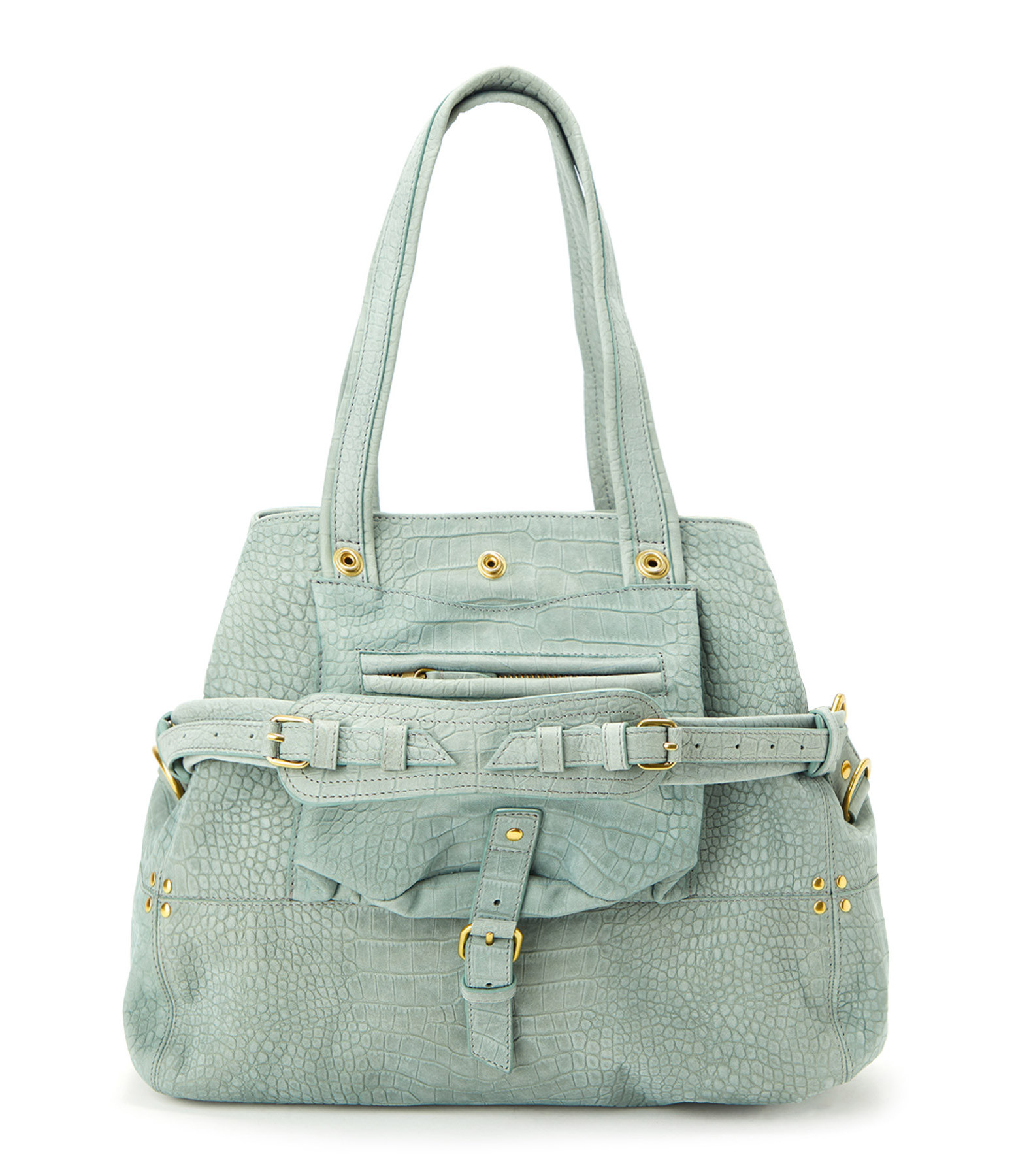 JEROME DREYFUSS - Sac Billy M Veau Effet Croco Lichen