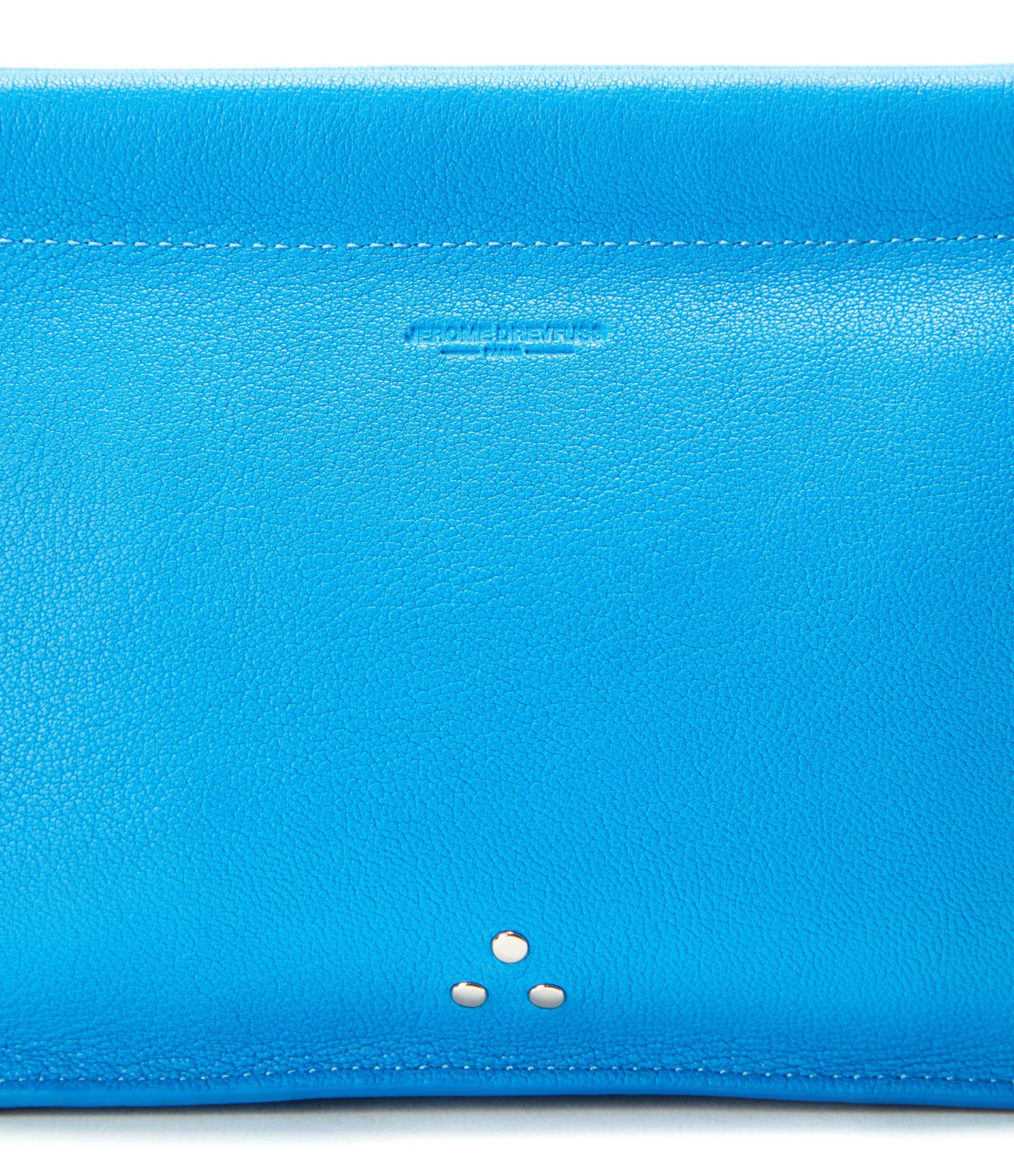 JEROME DREYFUSS - Pochette Clic Clac L Agneau Bleu Gitane