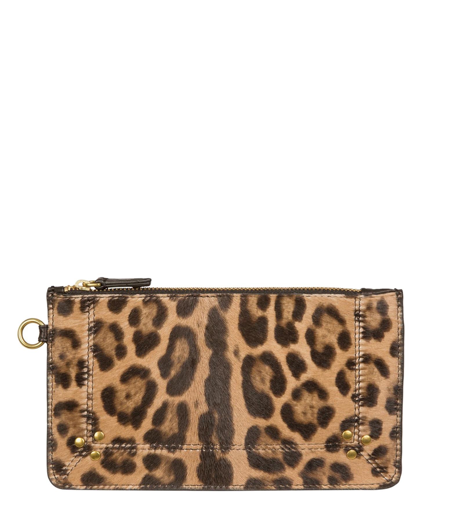 JEROME DREYFUSS - Pochette Popoche S Veau Agneau Leopard Sauvage