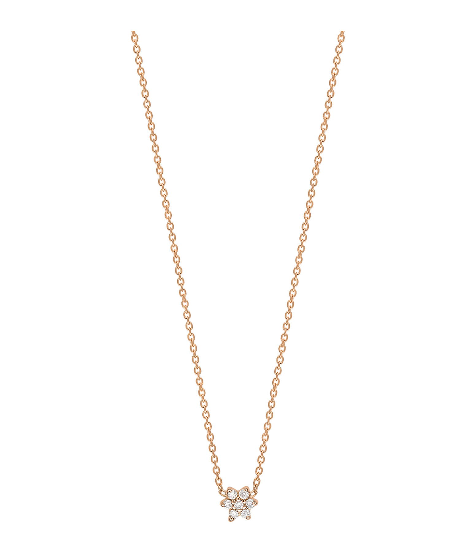 GINETTE NY - Collier Mini Star Diamants Or Rose