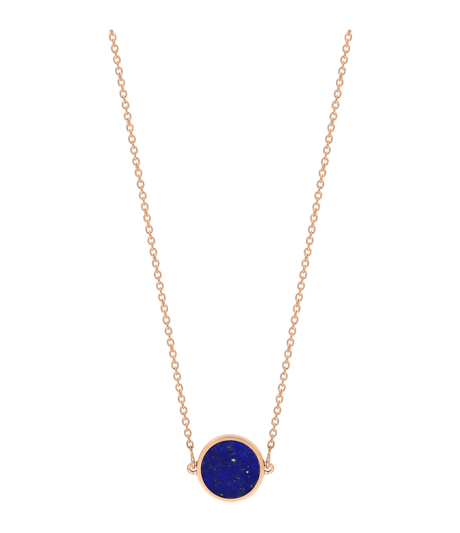 GINETTE NY - Collier Ever Mini Disc Or Rose Lapis Lazuli