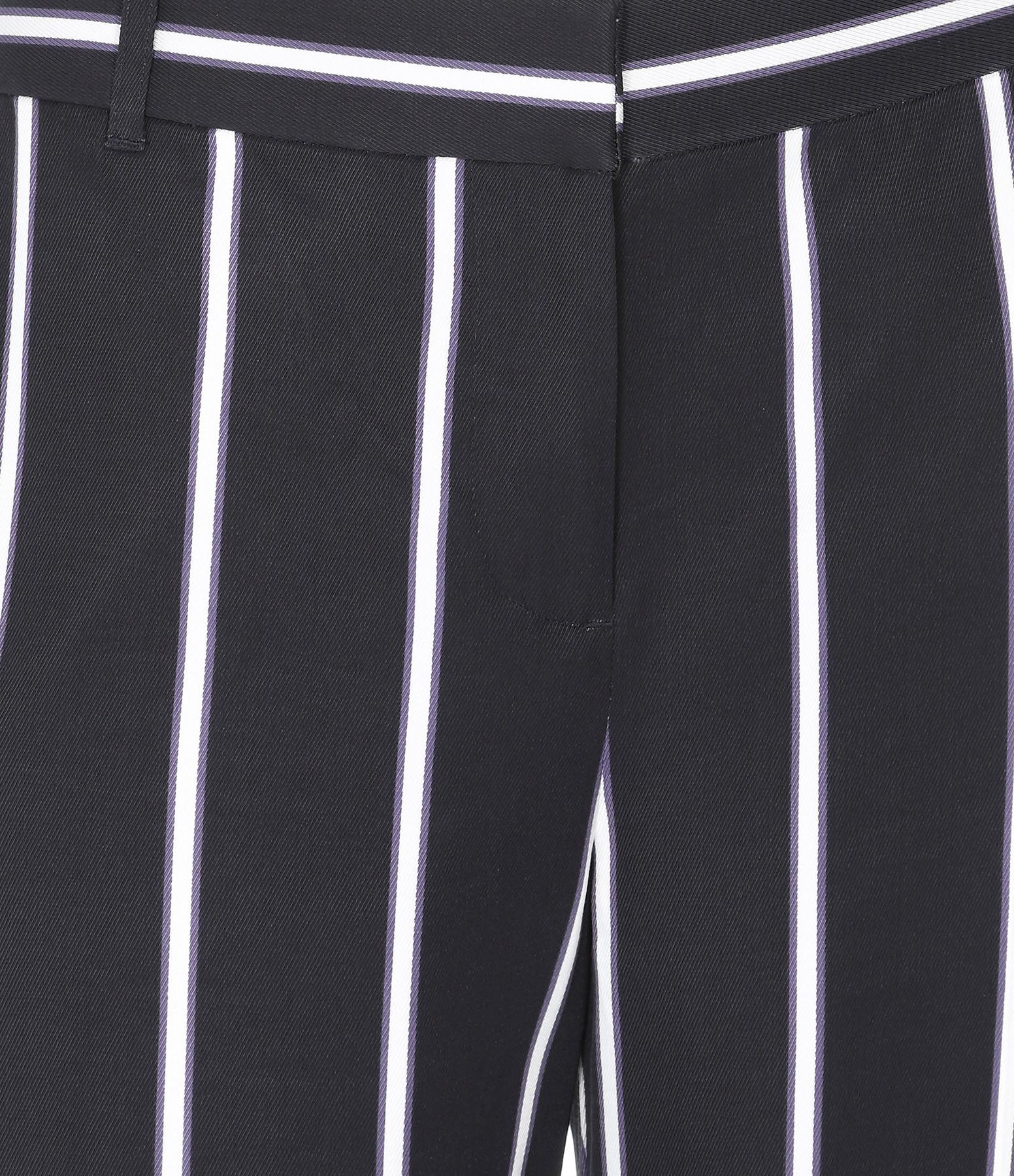 EQUIPMENT - Pantalon Rayures Arwen Noir Violet