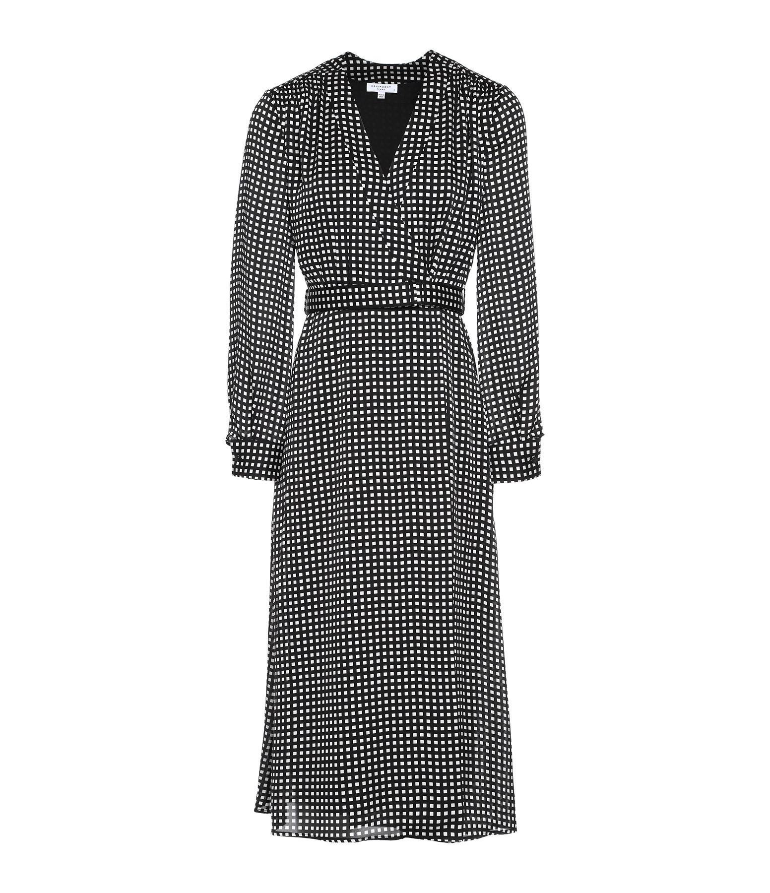 EQUIPMENT - Robe Kortini Noir Blanc