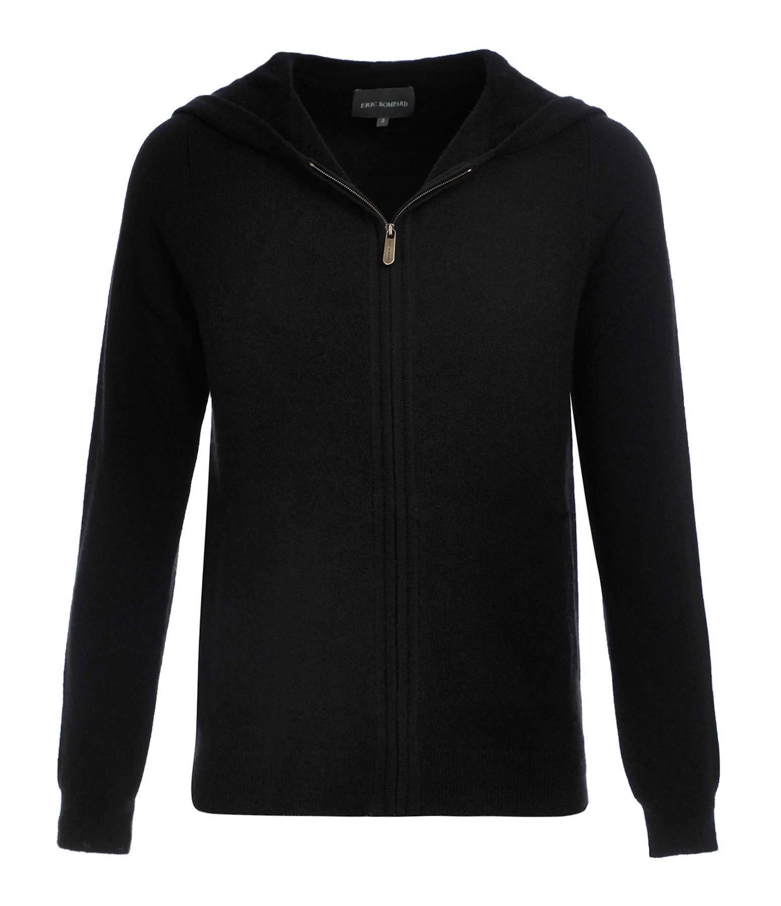 ERIC BOMPARD - Sweatshirt Hoodie Cintré Noir