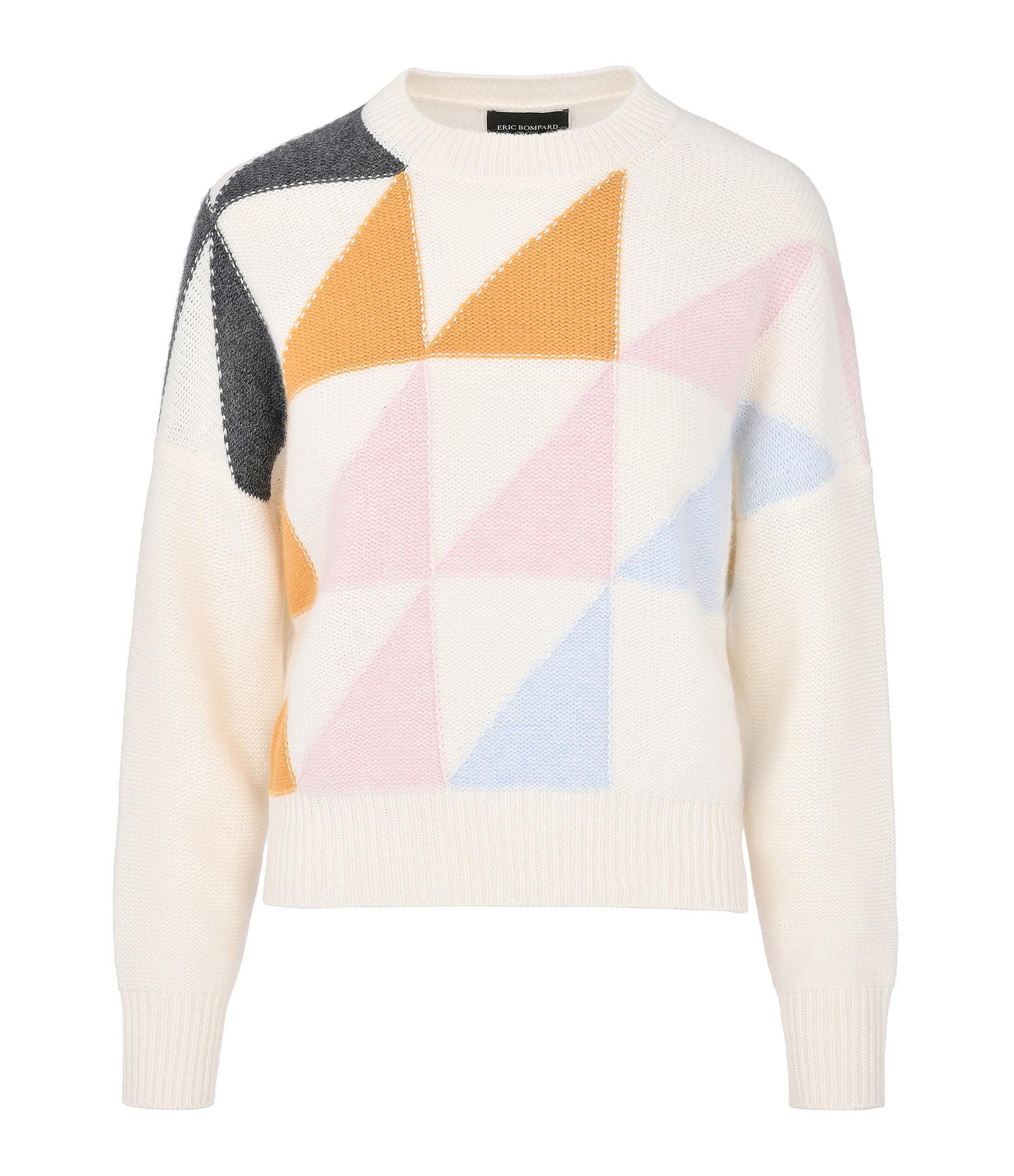 ERIC BOMPARD - Pull Intarsia Géométrique Autumn Multicolore